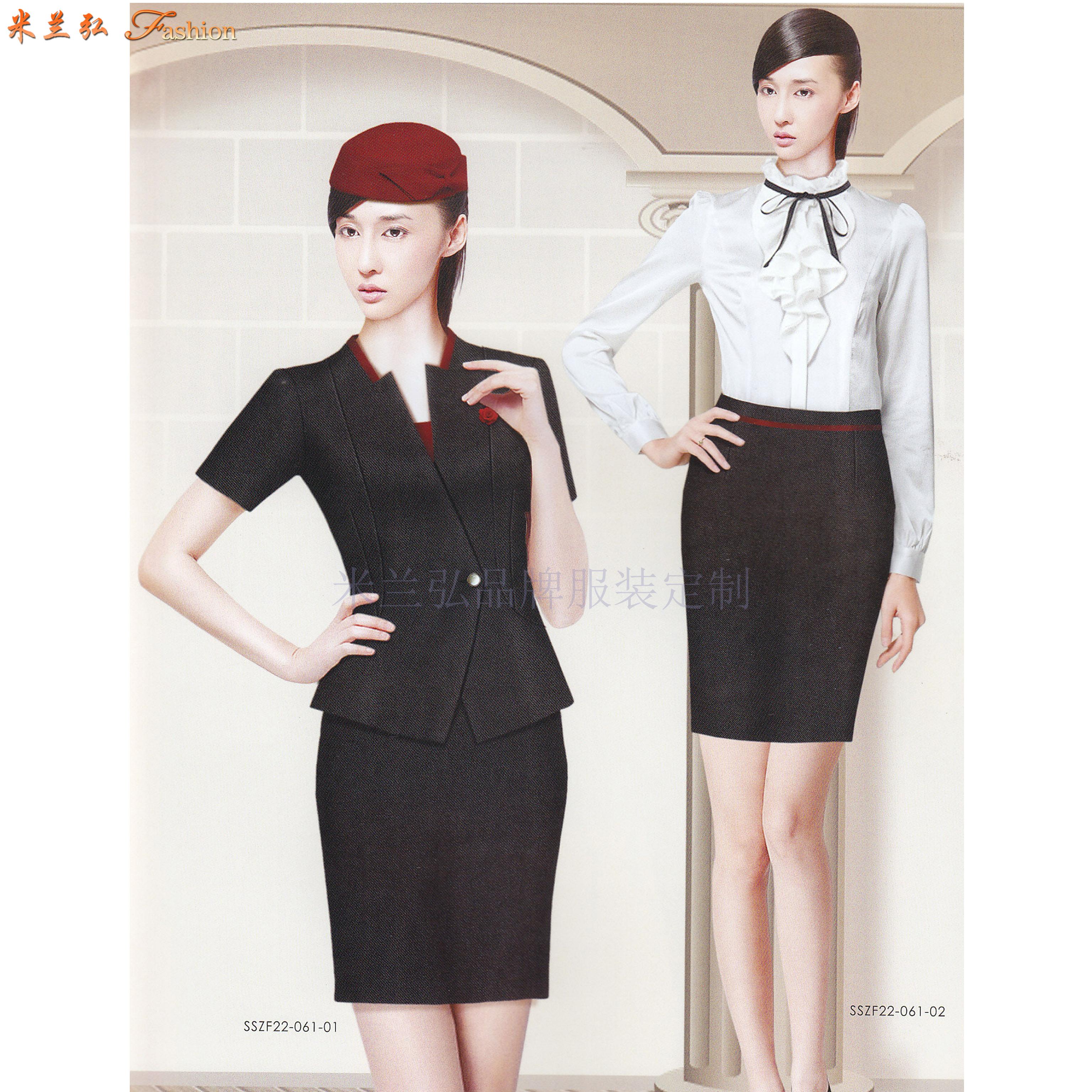 「濟南空姐服定製」「濟南空乘服訂做」推薦式樣時髦最新送体验金网站服裝-3