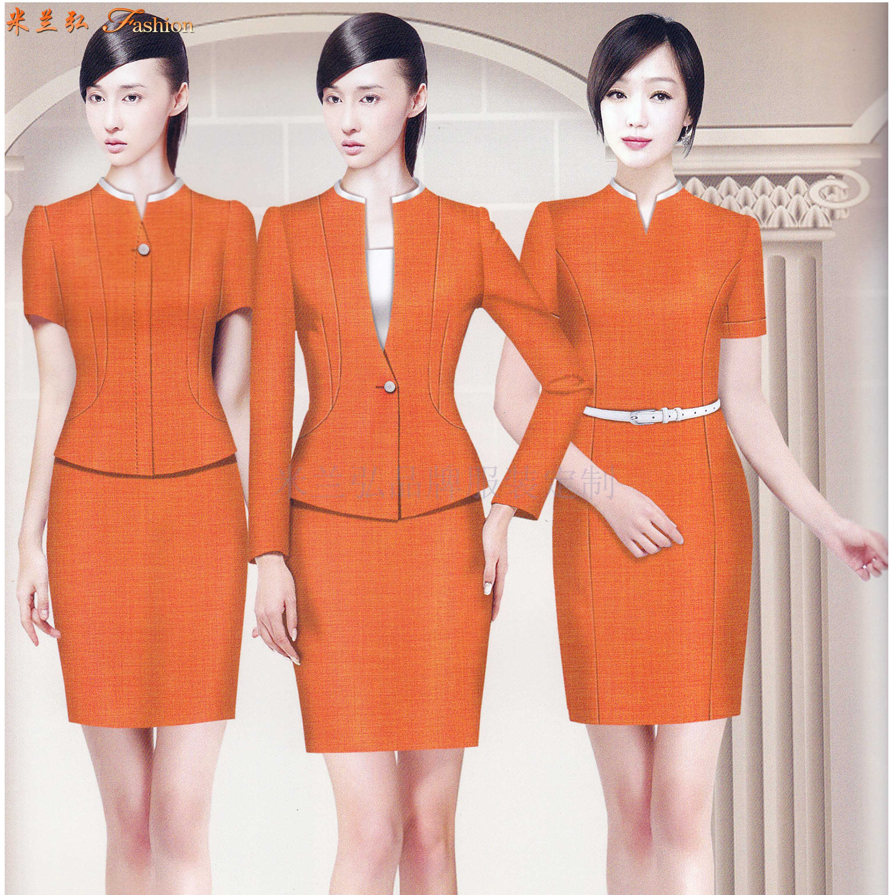 「銀川空姐服定制」「銀川空乘服訂做」推薦新穎潮流米蘭弘服裝-3