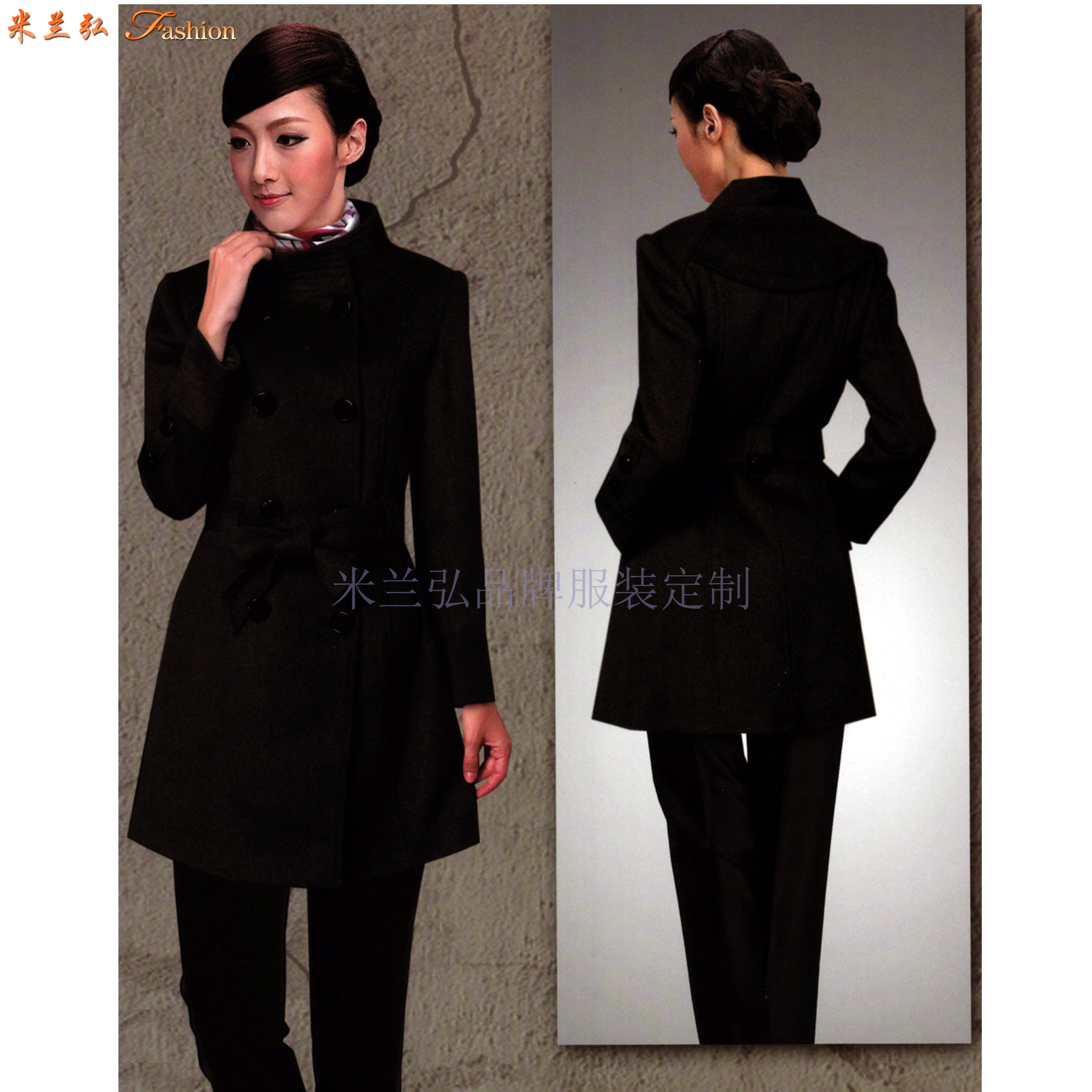 「大衣」銀川定制羊毛商務大衣的貨真價實公司-米蘭弘服裝-4