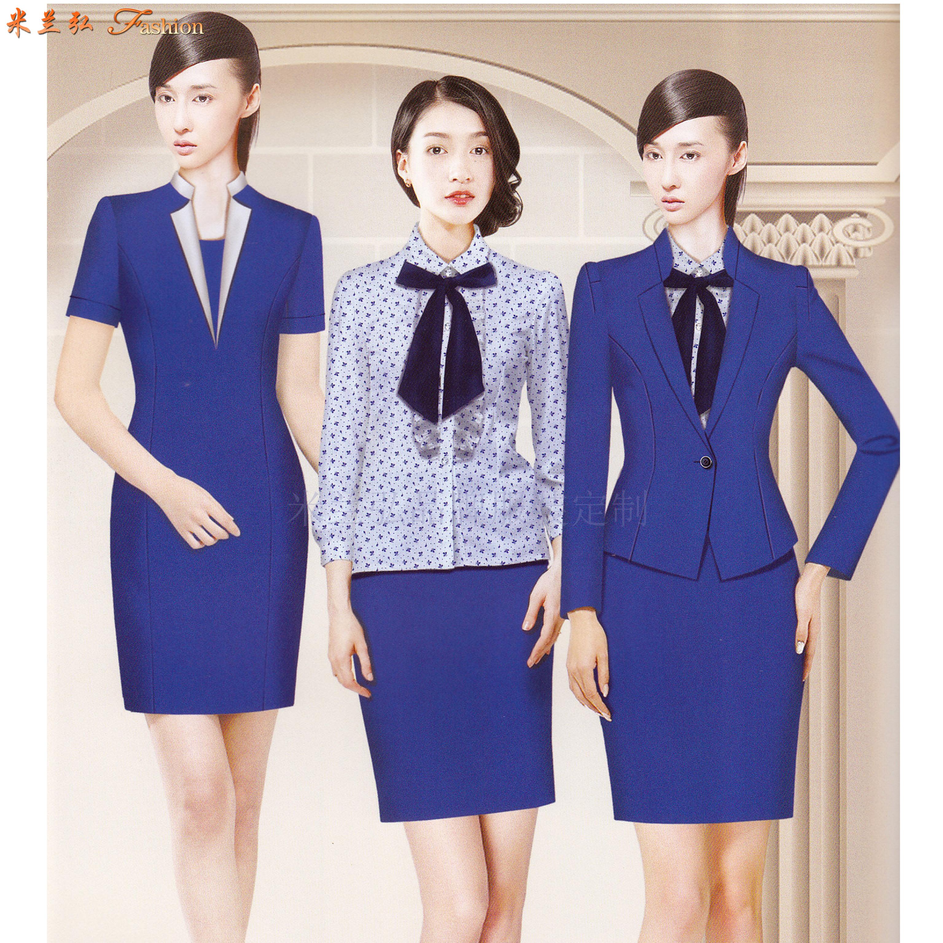 「寧夏空姐服」吳忠市量體定做航空公司空姐服-米蘭弘服裝-3