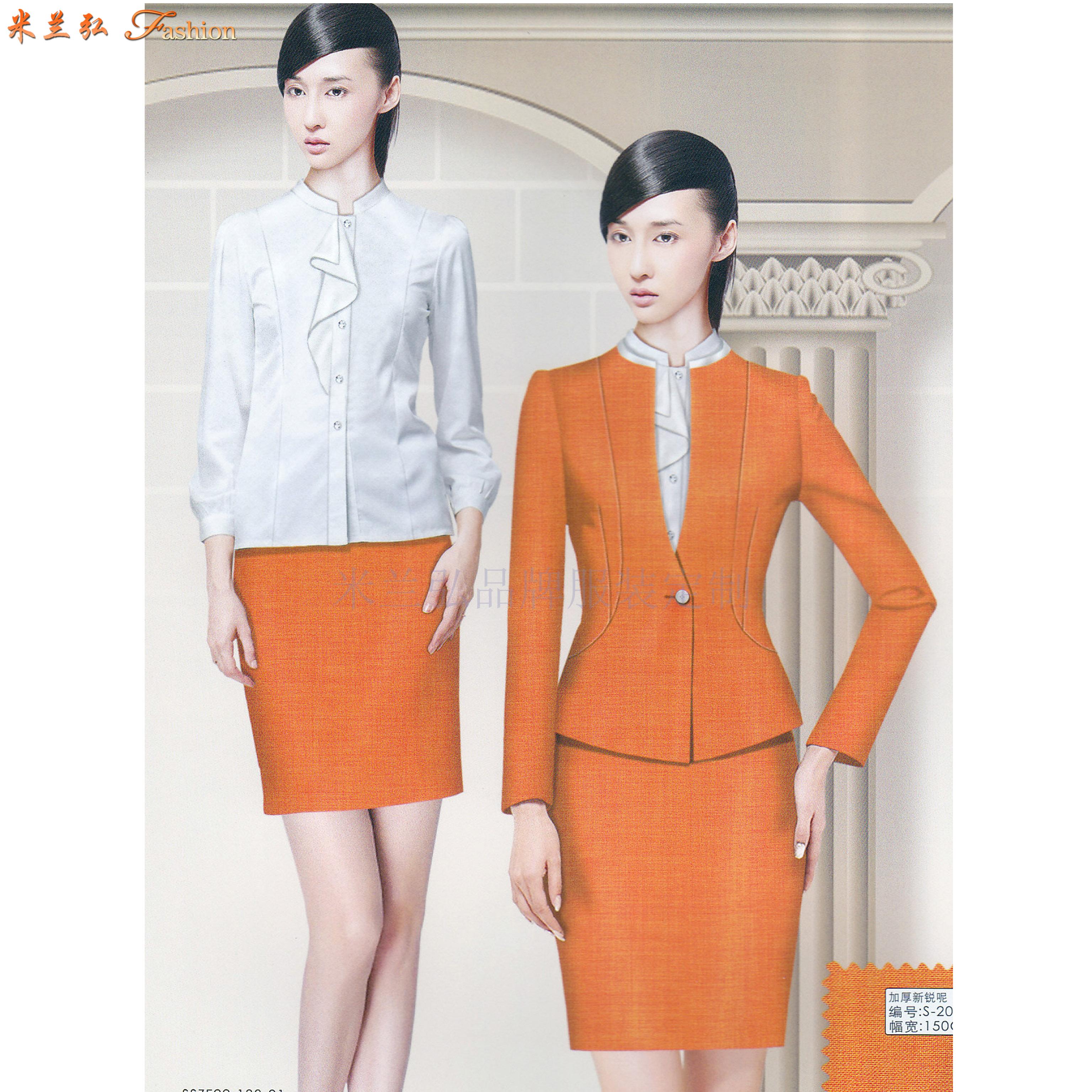 「寧夏空姐服」吳忠市量體定做航空公司空姐服-米蘭弘服裝-4