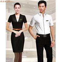 「短袖工作服」供應訂制企業夏天涼爽短袖襯衫套裝-米蘭弘服裝-4