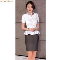 「短袖工作服」供應訂制企業夏天涼爽短袖襯衫套裝-米蘭弘服裝-1