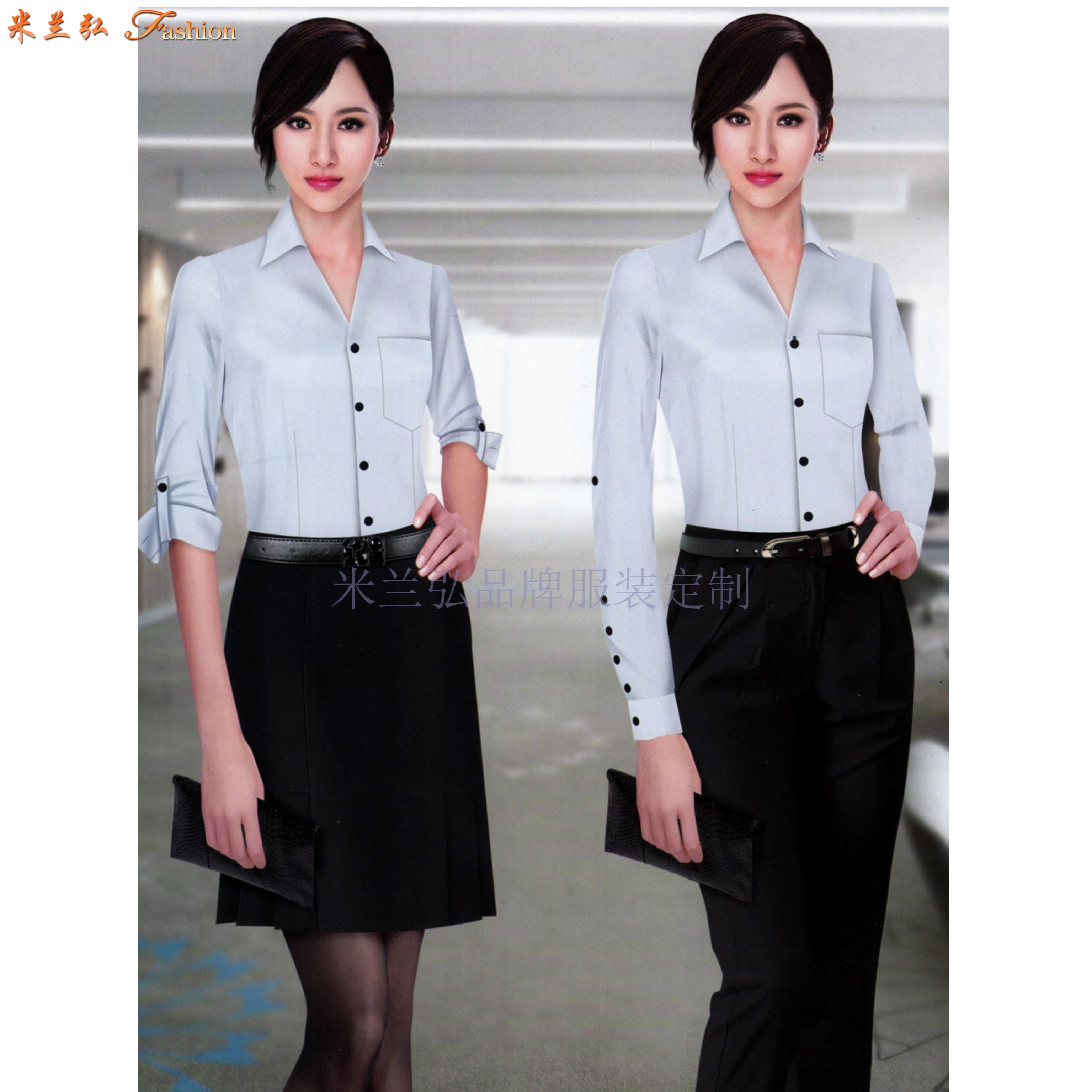 「北京女式襯衫定制」「北京女士襯衫訂做」-米蘭弘服裝-5
