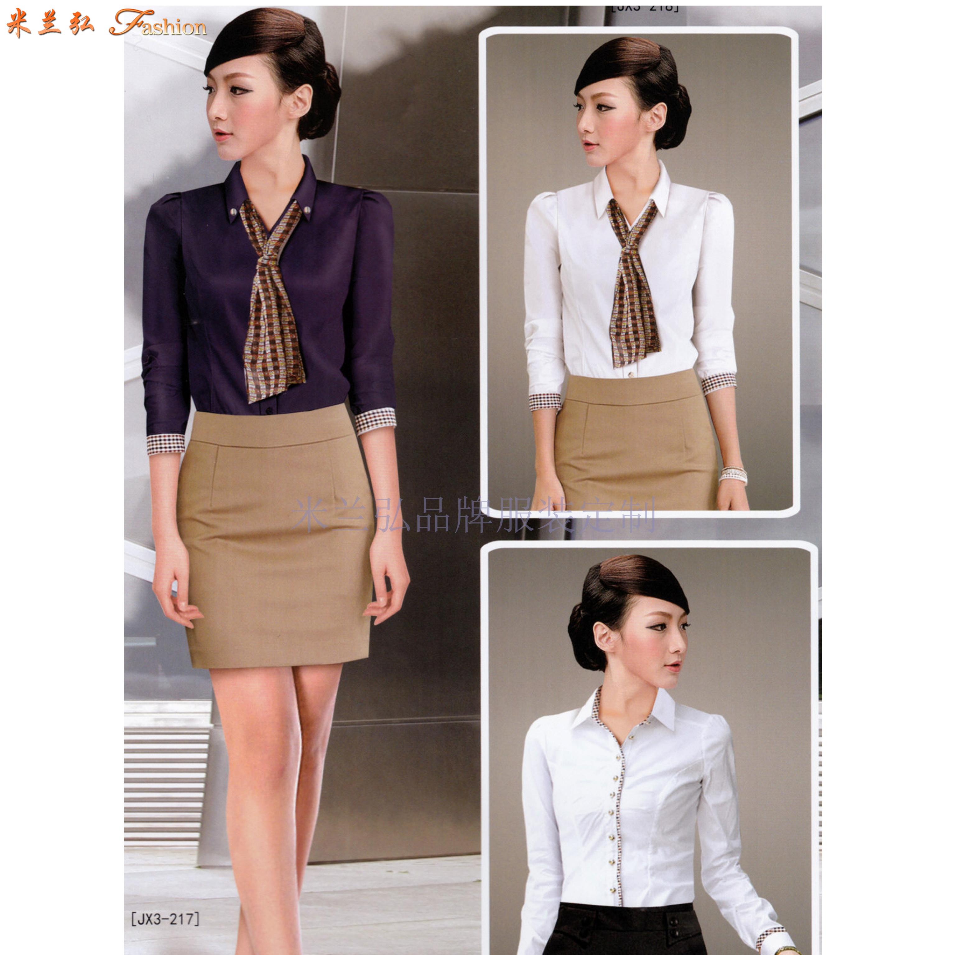 「襯衫搭配」廠家直銷男士女士工作服襯衫搭配款式-米蘭弘服裝-1