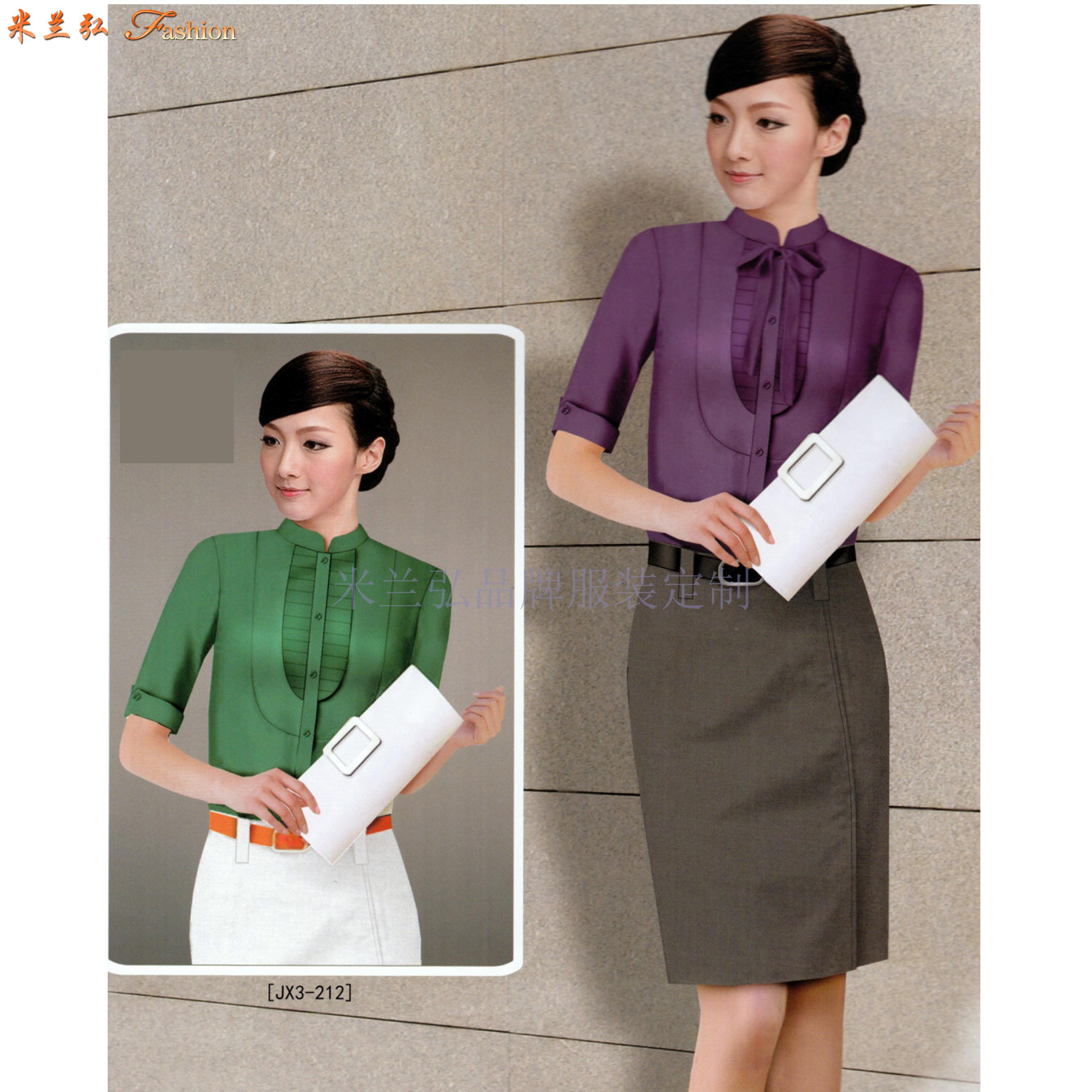 「襯衫搭配」廠家直銷男士女士工作服襯衫搭配款式-米蘭弘服裝-2