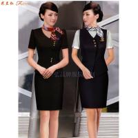 「短袖修身空姐服款式」「短袖靚麗空姐服圖片」-米蘭弘服裝-1