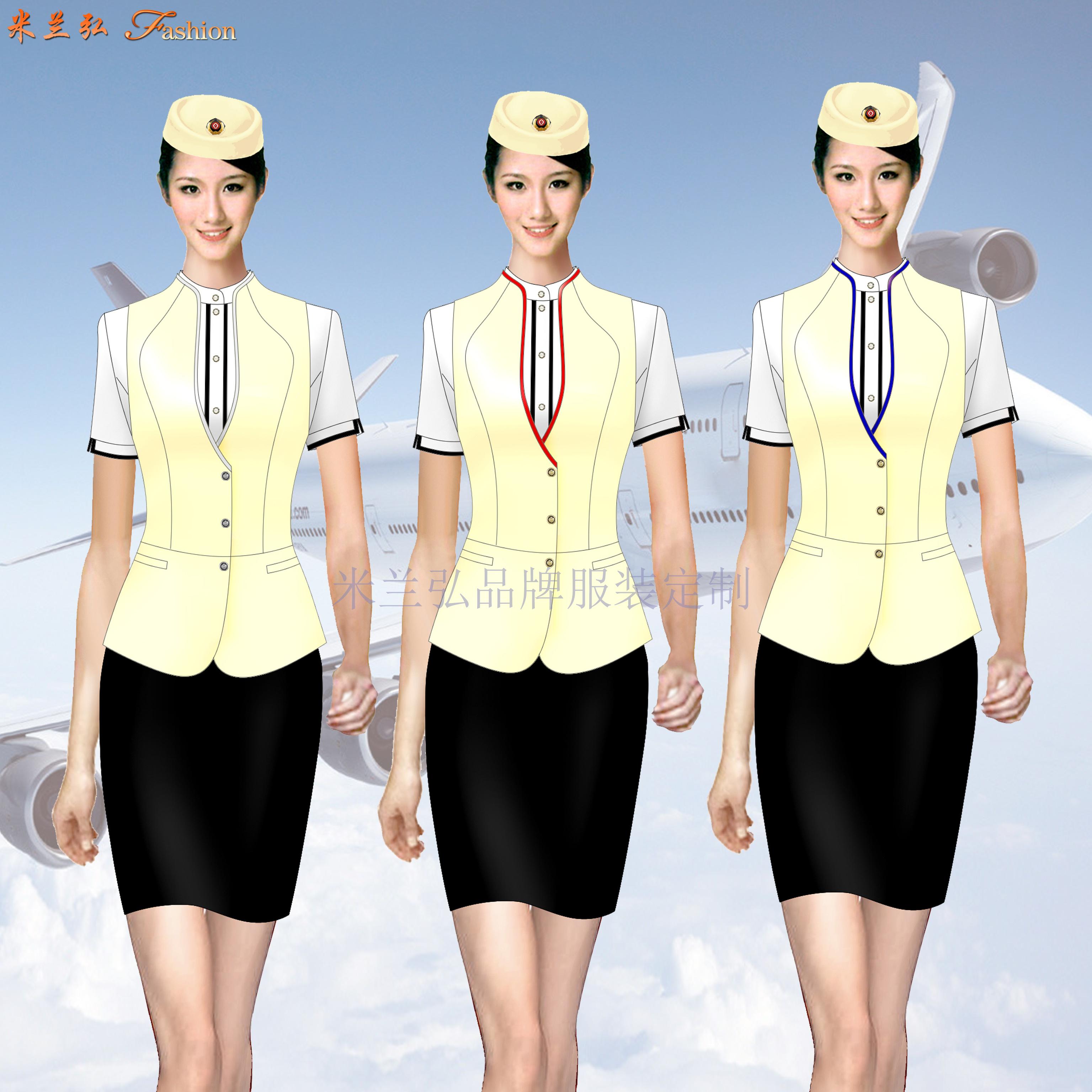 「短袖修身空姐服款式」「短袖靚麗空姐服圖片」-米蘭弘服裝-2
