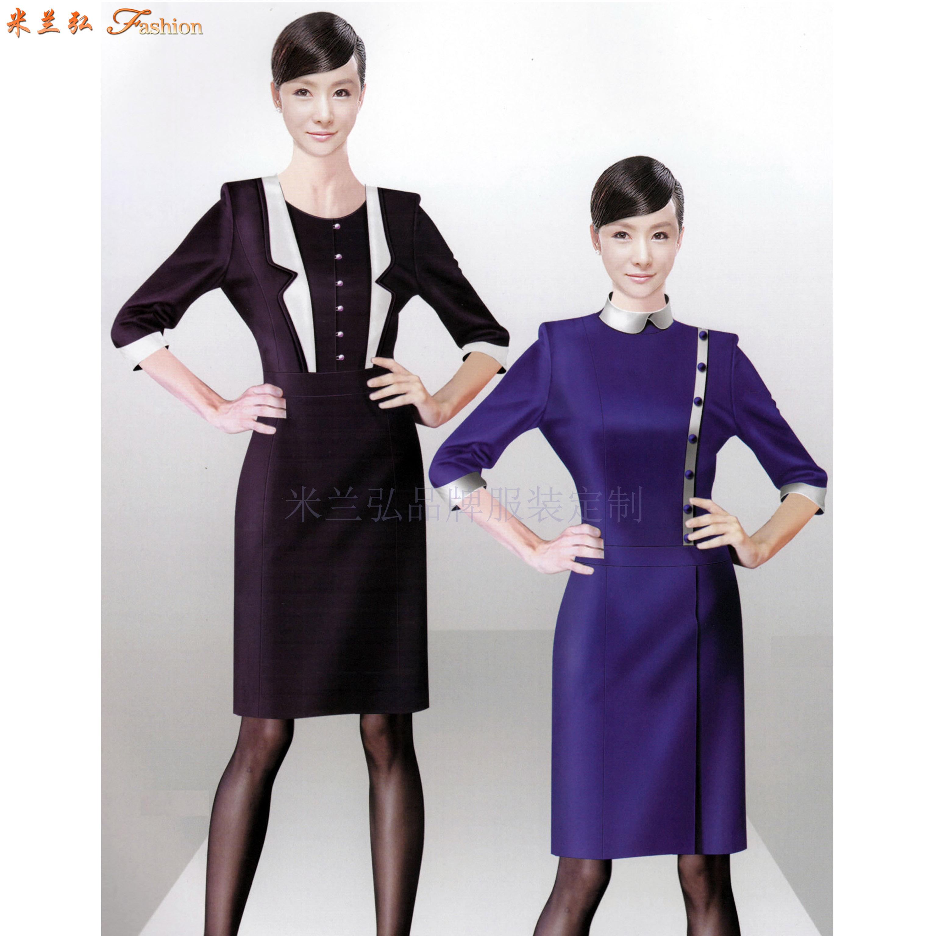 「職業裝連衣裙定制」「職業裝連衣裙訂制」-米蘭弘服裝-1