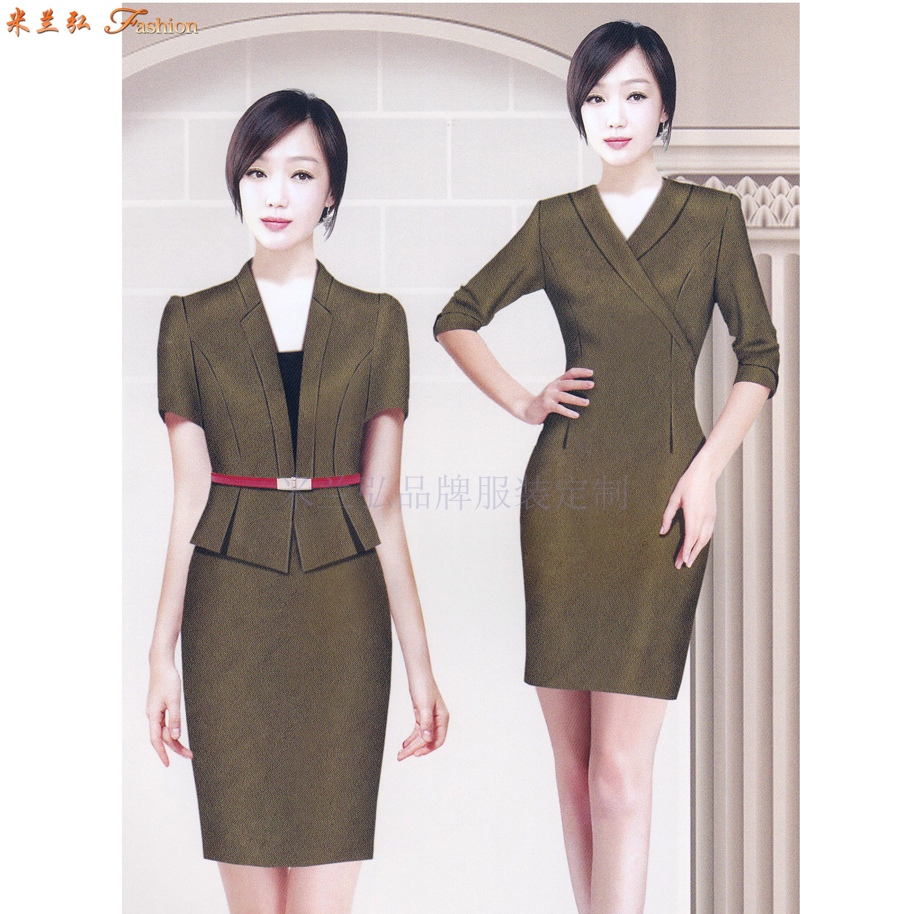 「職業裝連衣裙定制」「職業裝連衣裙訂制」-米蘭弘服裝-2
