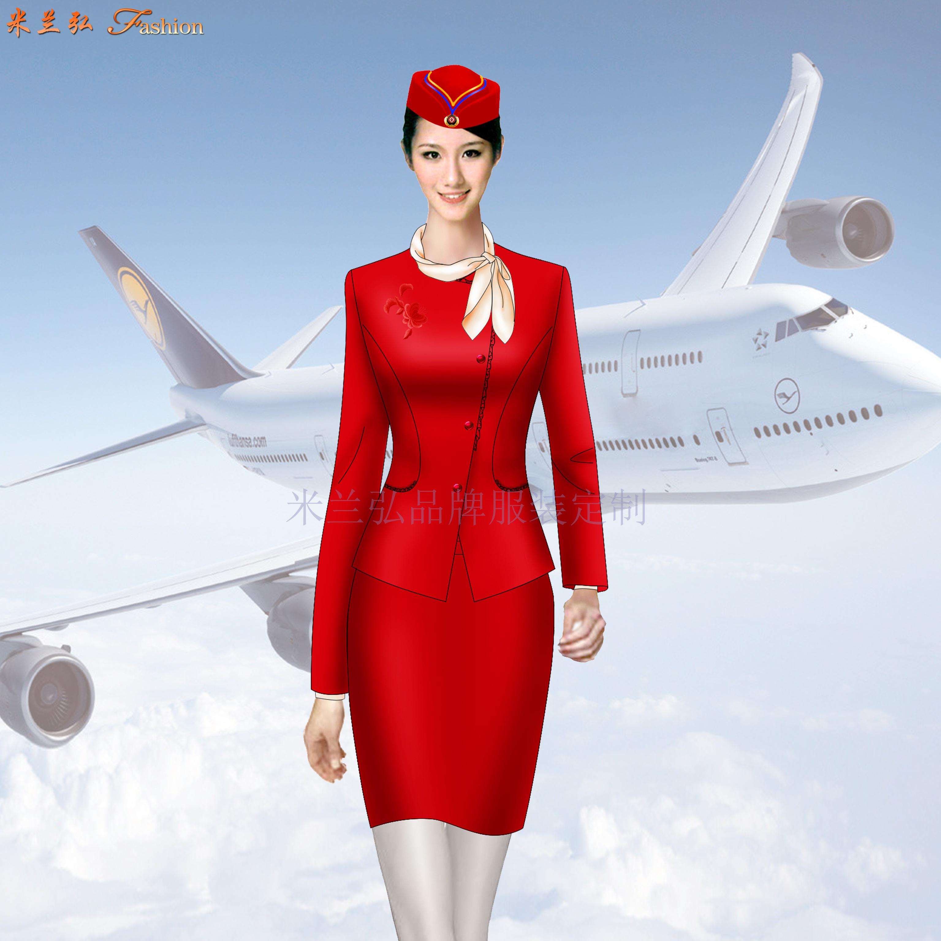 「河北空姐服」滄州市量體定做航空公司空姐服-米蘭弘服裝-4
