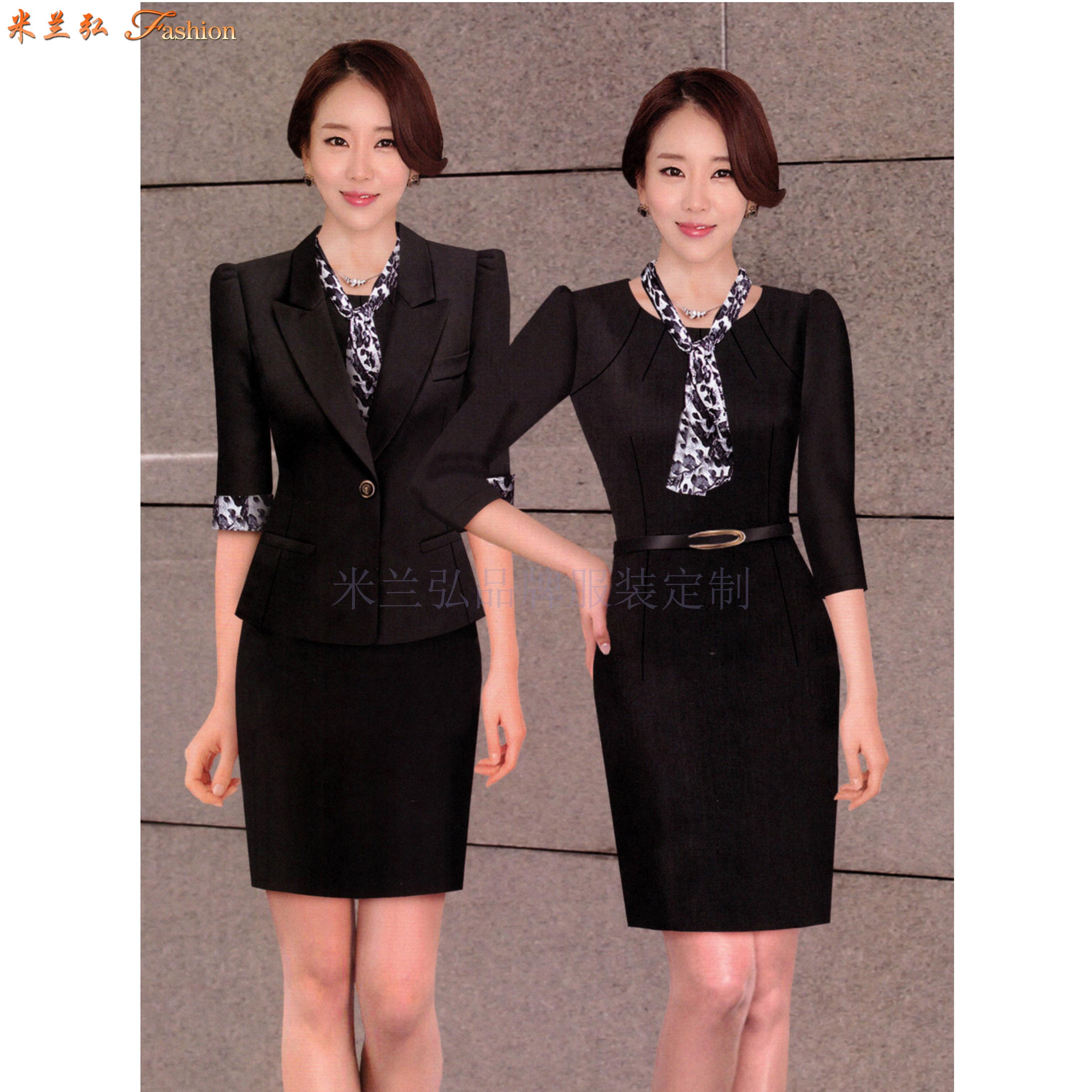 「聊城市職業裝」聊城市量身定做OL女式職業裝-米蘭弘服裝-2
