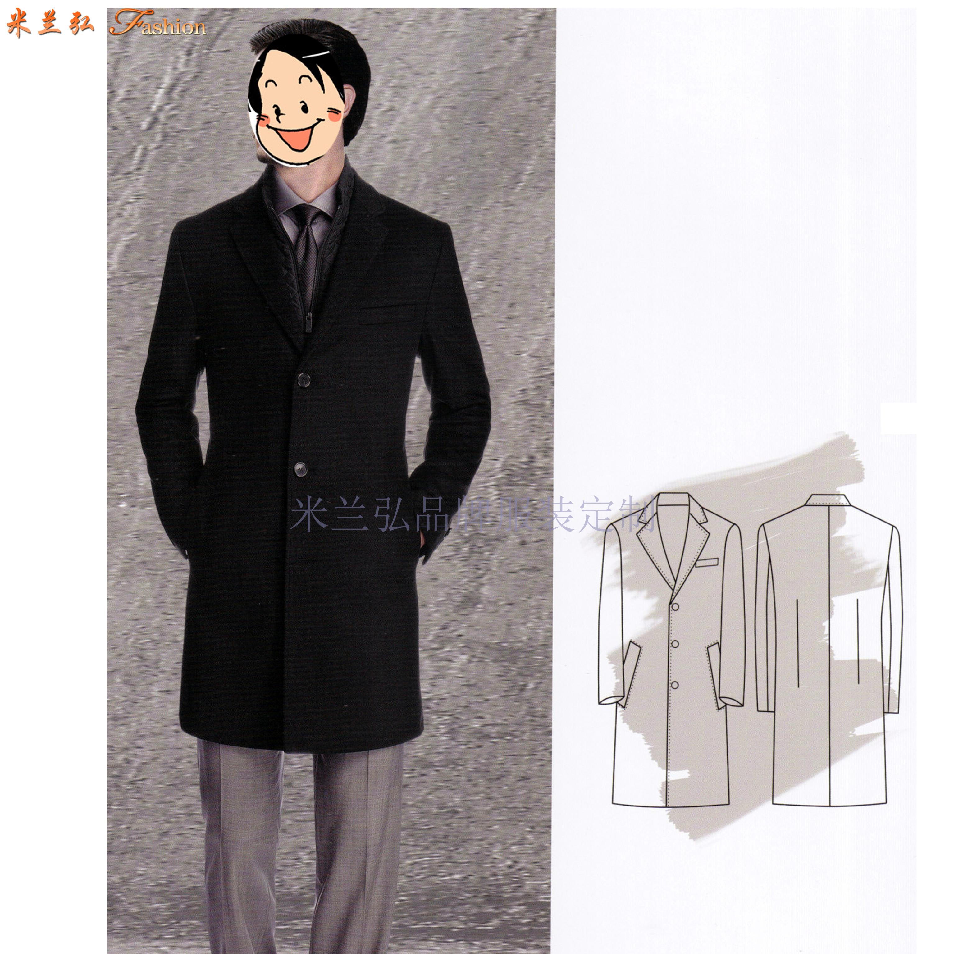 「山東大衣定制」「煙臺市大衣訂做」厚實暖和-米蘭弘服裝-5
