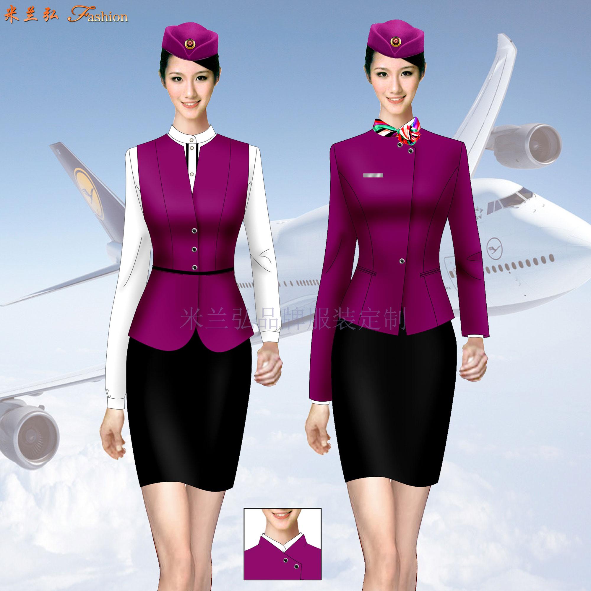 「濟南空姐服定制」「濟南空乘服訂做」推薦式樣時髦米蘭弘服裝