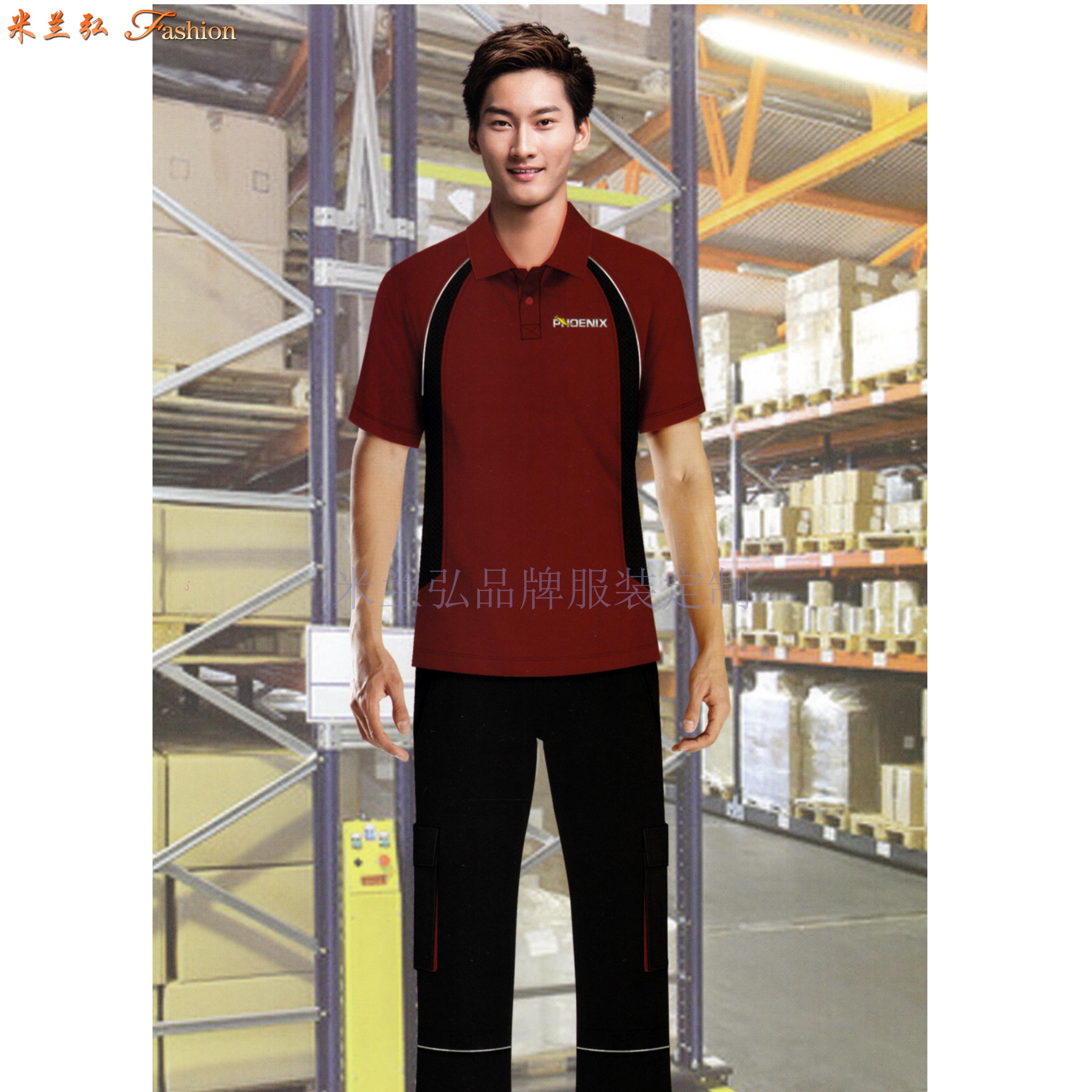 「夏天工程服定做」「短袖工程服訂做」滌棉防靜電-米蘭弘服裝-4