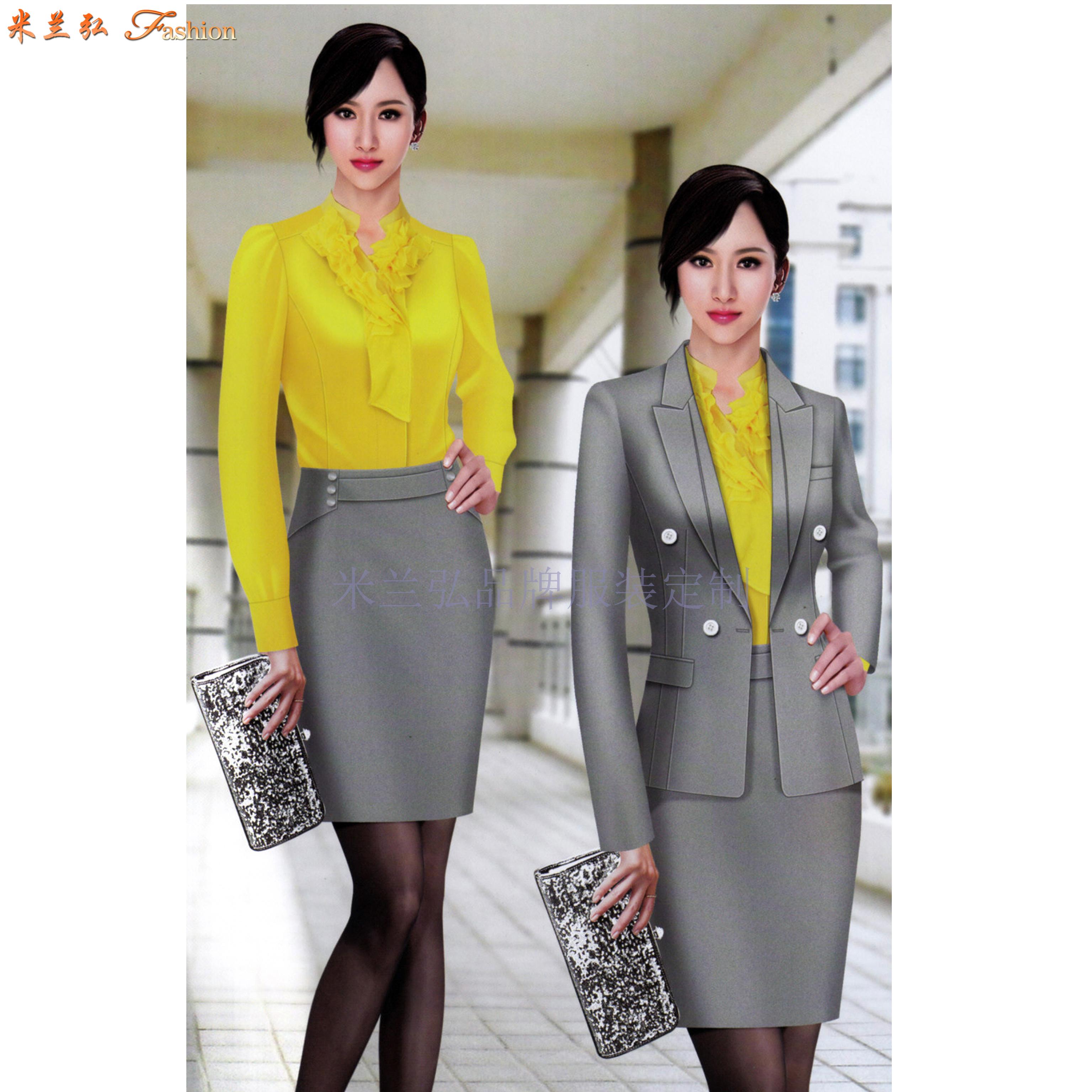 女士冬季職業裝搭配款式套裝_新款潮流女式職業裝-米蘭弘職業裝-2