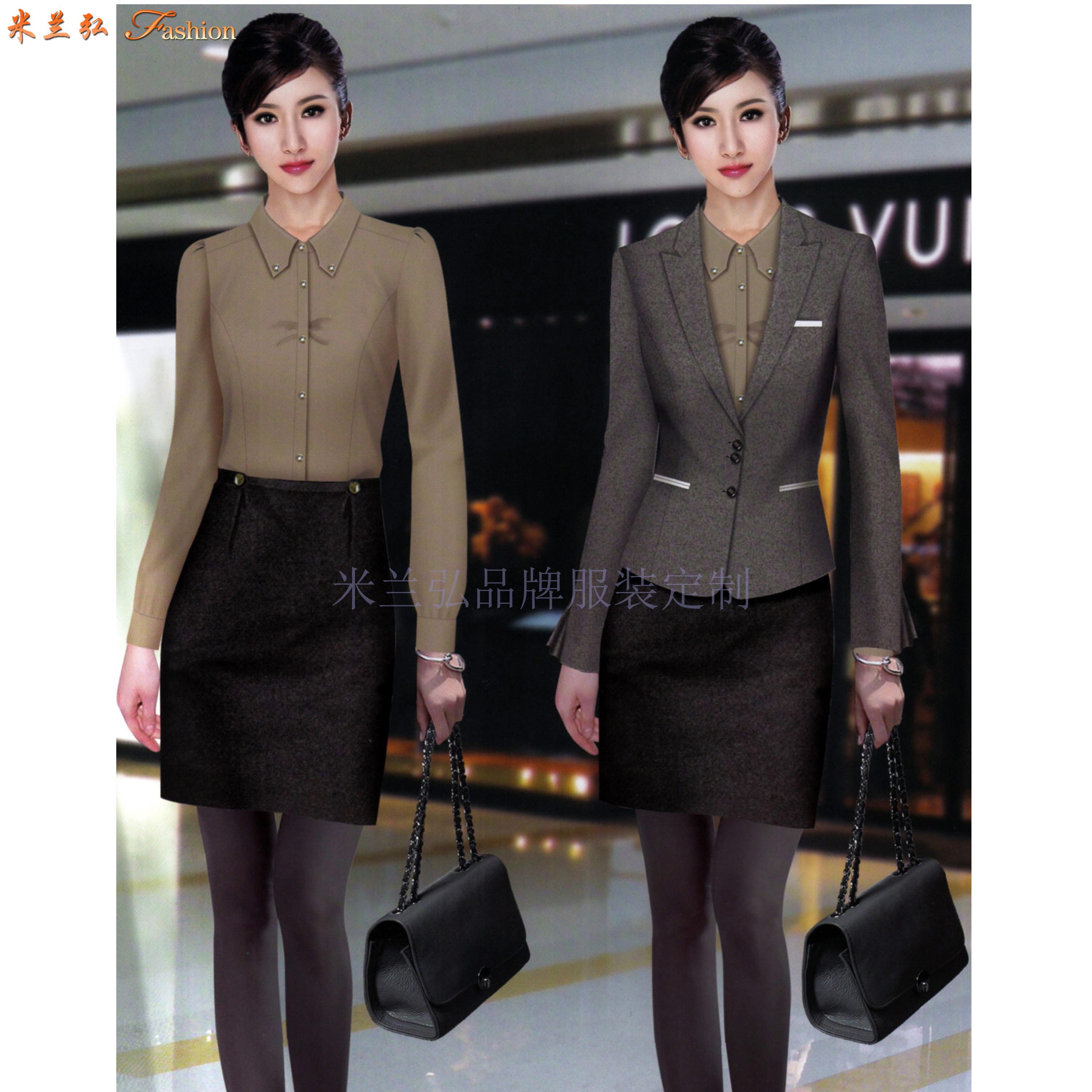 女士冬季職業裝搭配款式套裝_新款潮流女式職業裝-米蘭弘職業裝-4