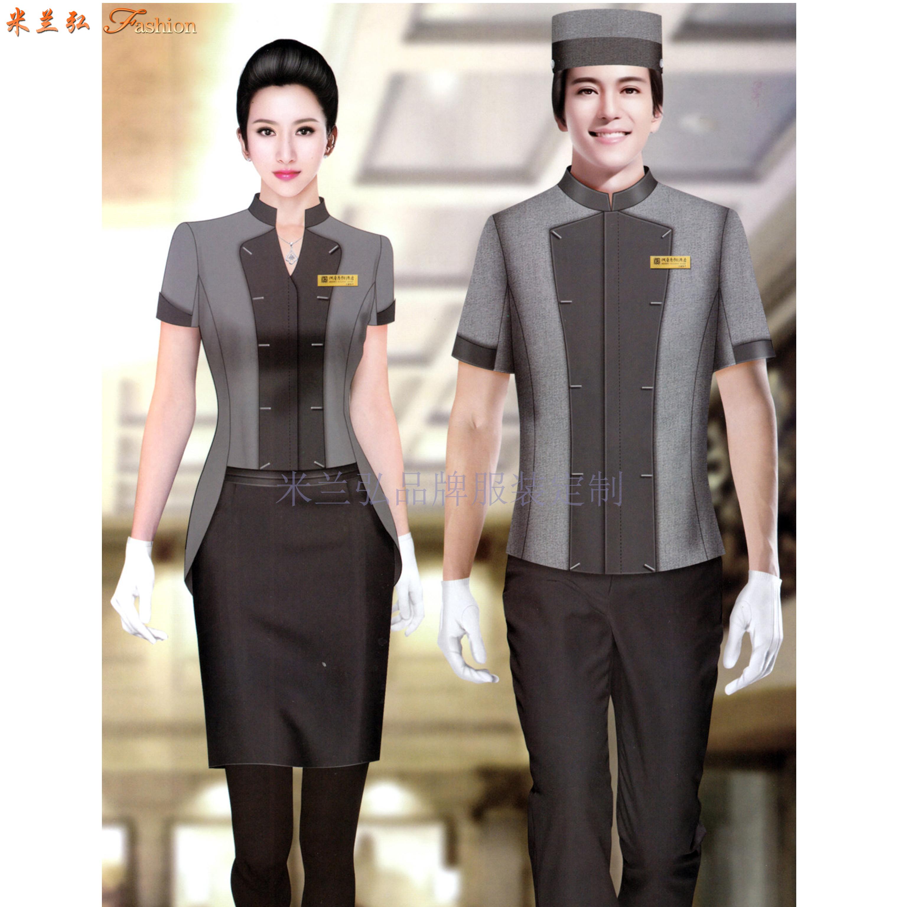 平涼酒店制服訂做-新穎潮流-米蘭弘服裝-2
