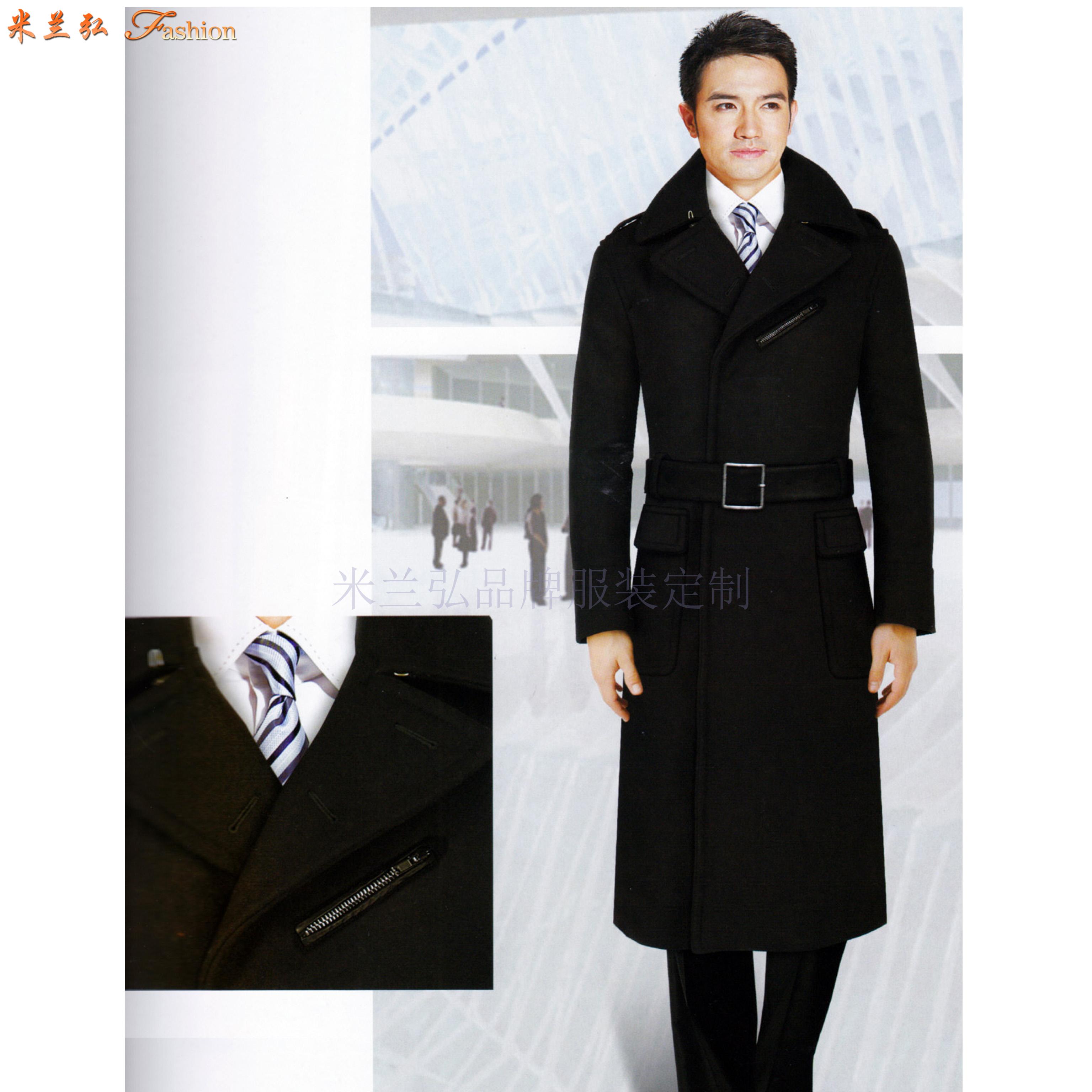 「渭南大衣定制」陜西保暖雙層大衣訂制-米蘭弘服裝-2