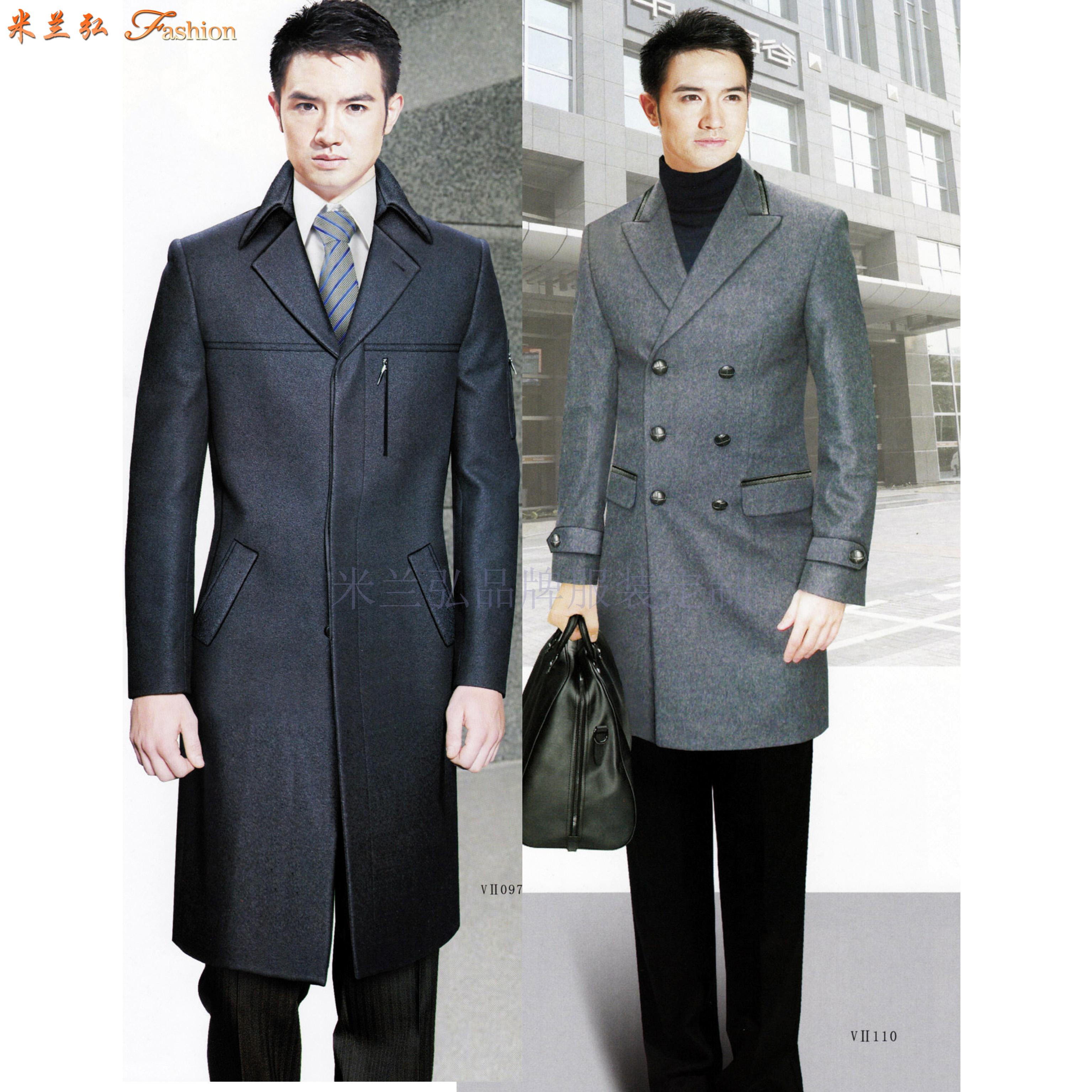 「渭南大衣定制」陜西保暖雙層大衣訂制-米蘭弘服裝-3