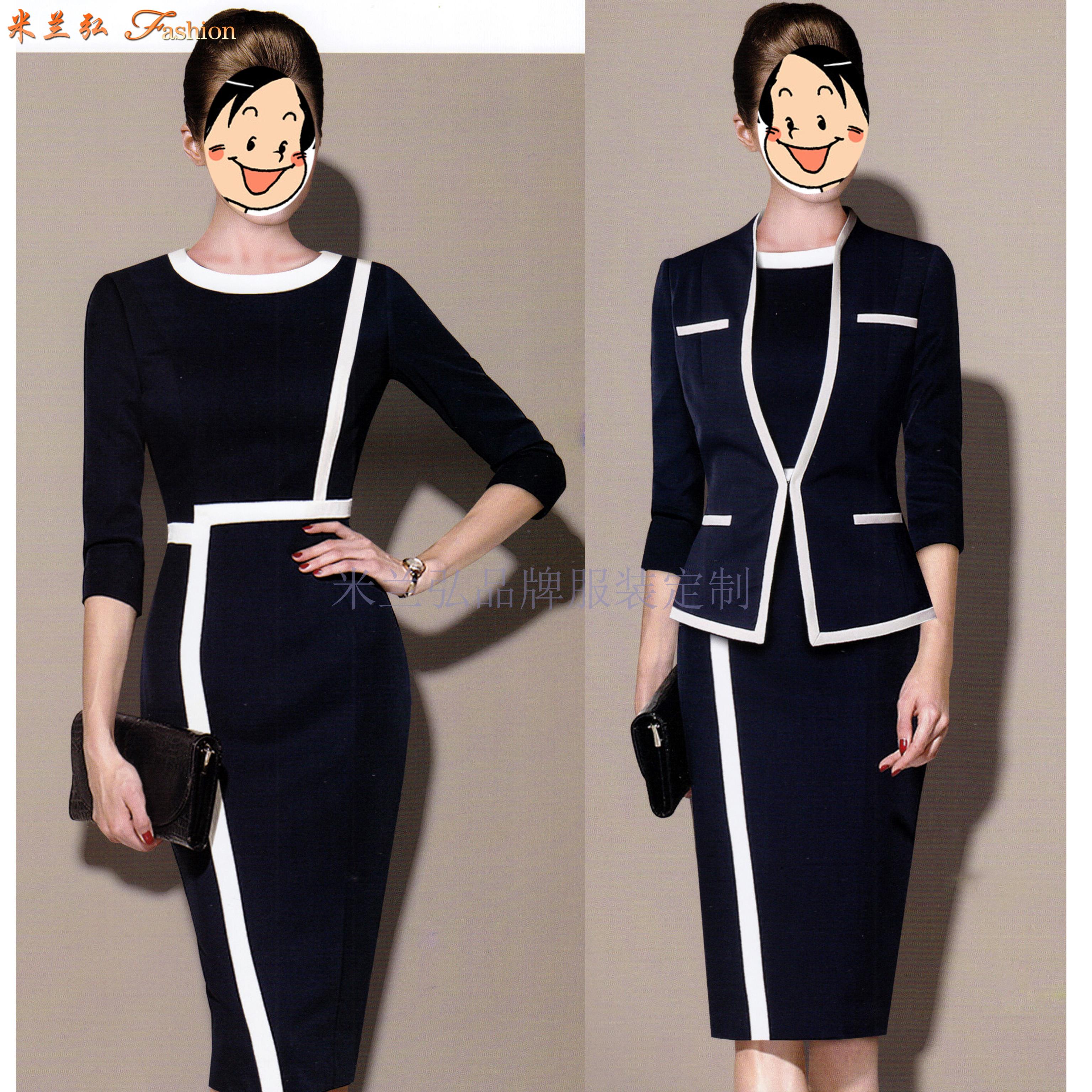 「安康連衣裙定制」陜西工作連衣裙圖片-米蘭弘服裝-4