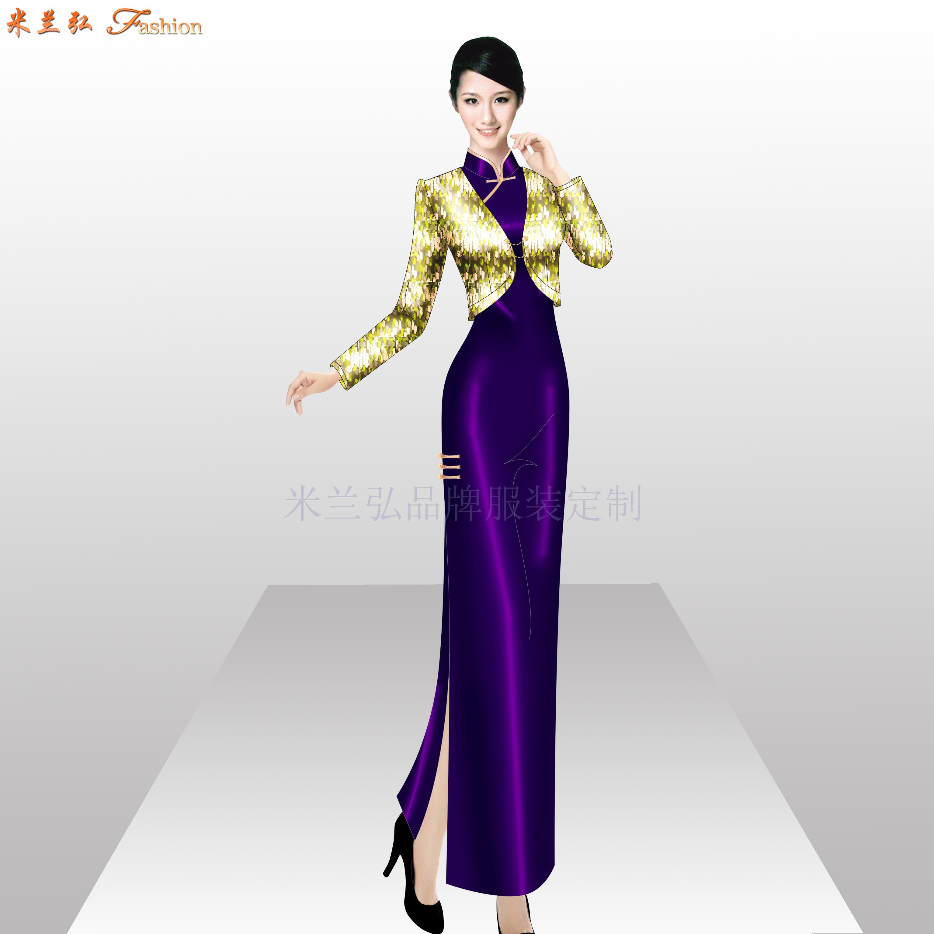 「商洛旗袍定制」陜西量身定制旗袍款式-米蘭弘服裝-2