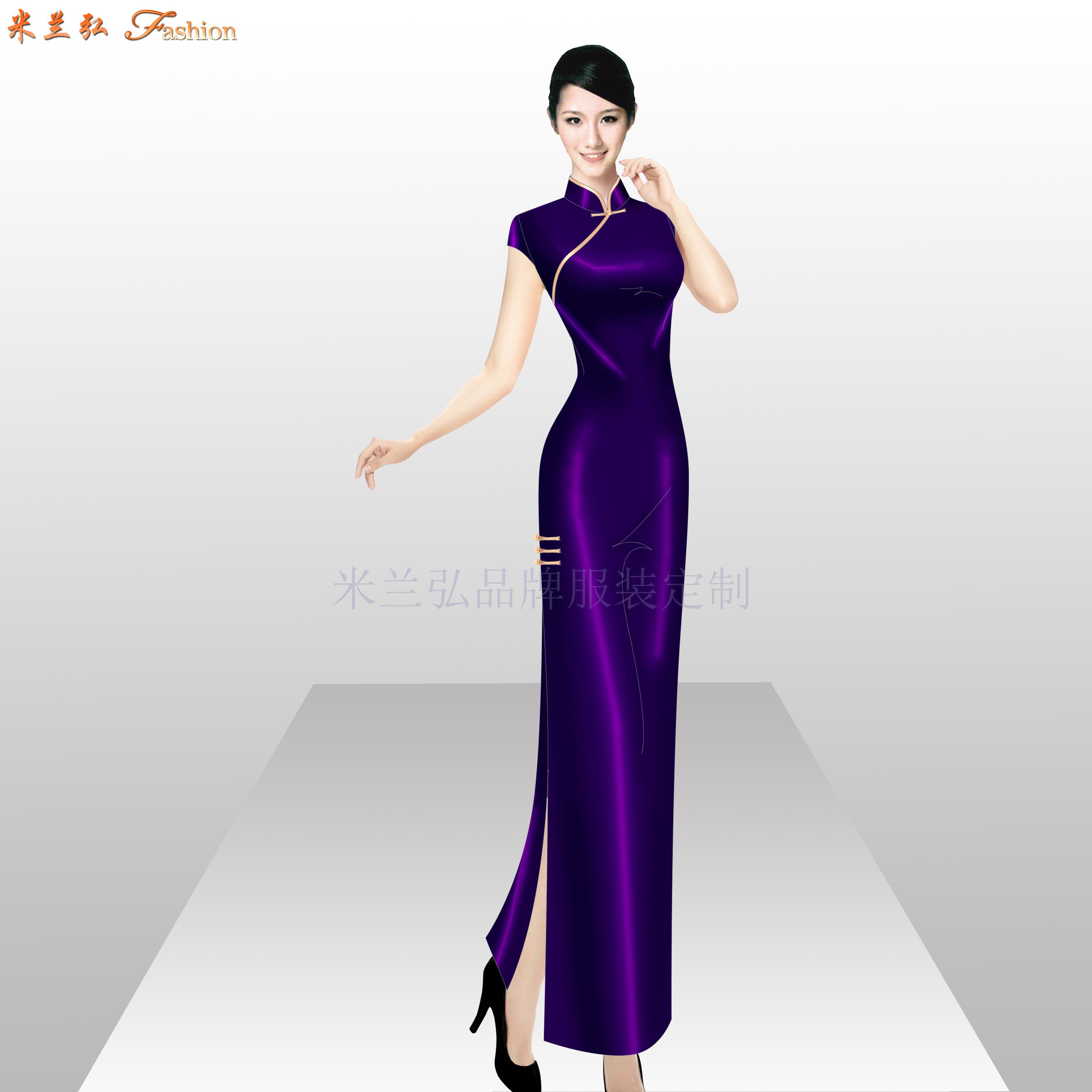 「商洛旗袍定制」陜西量身定制旗袍款式-米蘭弘服裝-1