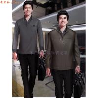 商務夾克定制-定做藏藍色羊毛正裝夾克-米蘭弘服裝-5