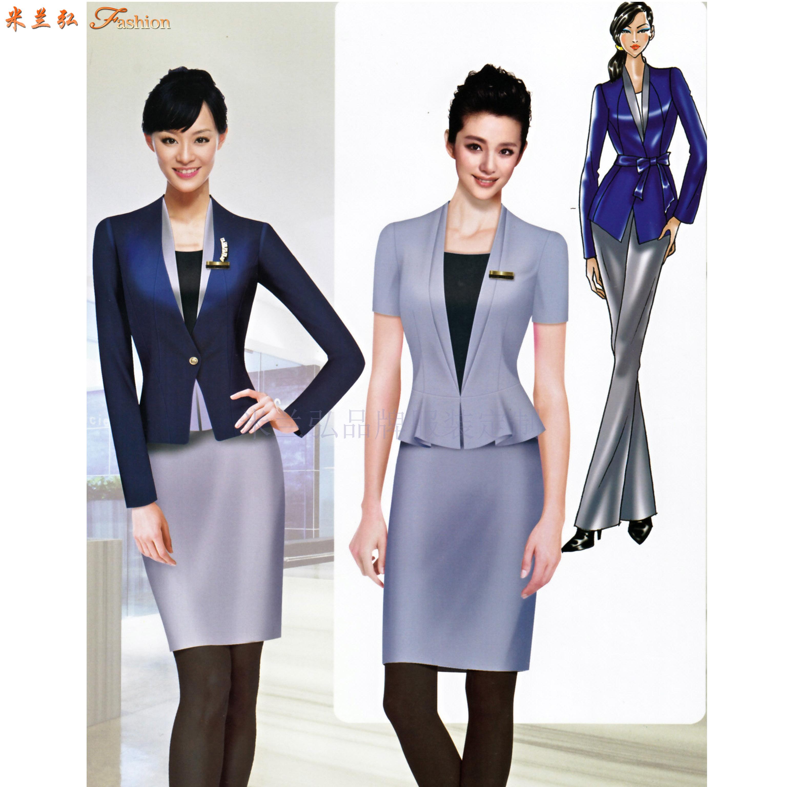 廣東職業裝定做-新穎潮流職業裝訂制-米蘭弘服裝-2