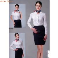 女士職業裝白襯衫-定做女式長袖白色襯衫-米蘭弘服裝-3