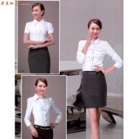 女士職業裝白襯衫-定做女式長袖白色襯衫-米蘭弘服裝-5