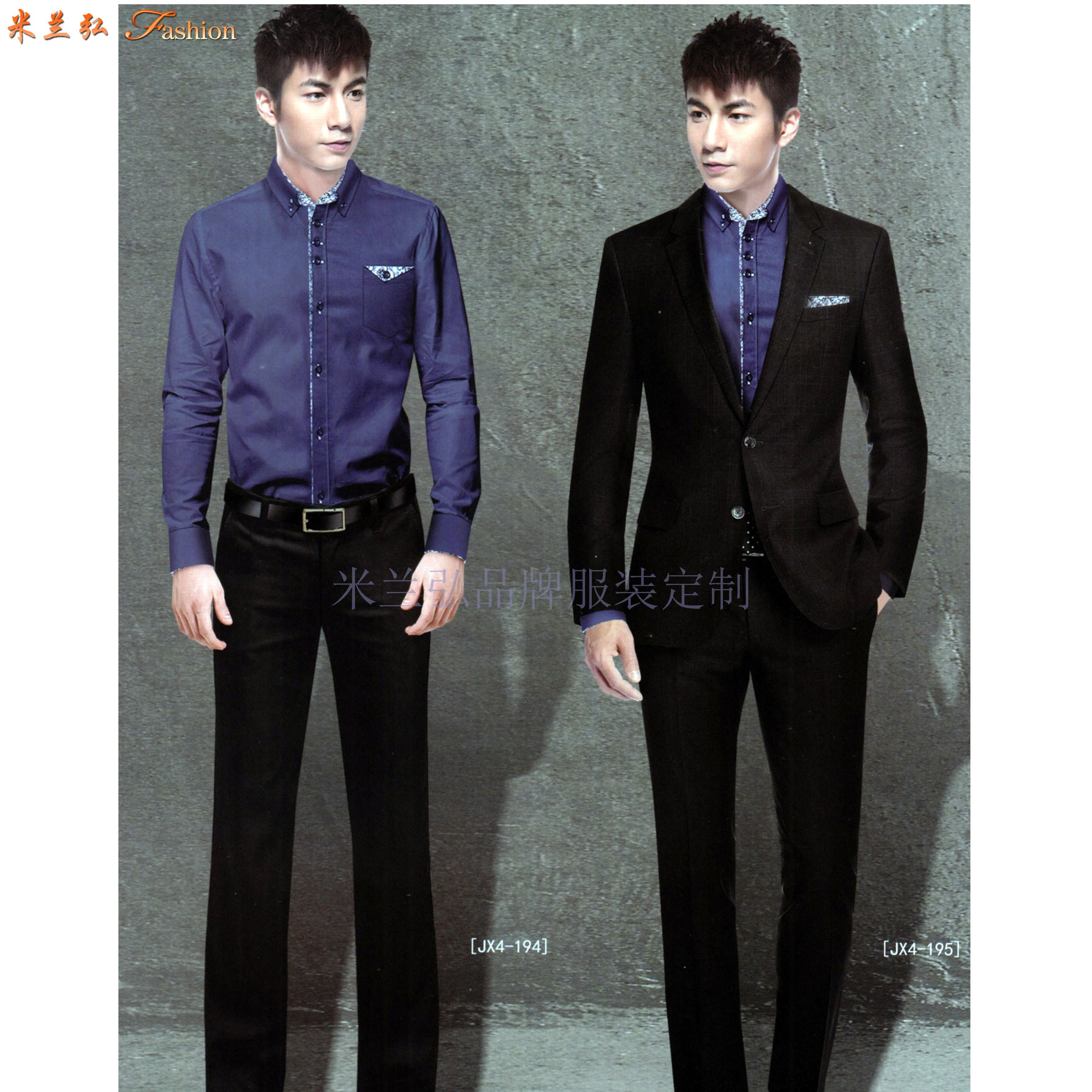 男西服定制-訂制英倫時尚男士西服-米蘭弘服裝-4