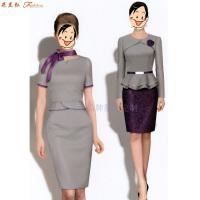 職業裝高檔連衣裙公司-國內職業裝品牌-米蘭弘服裝-2