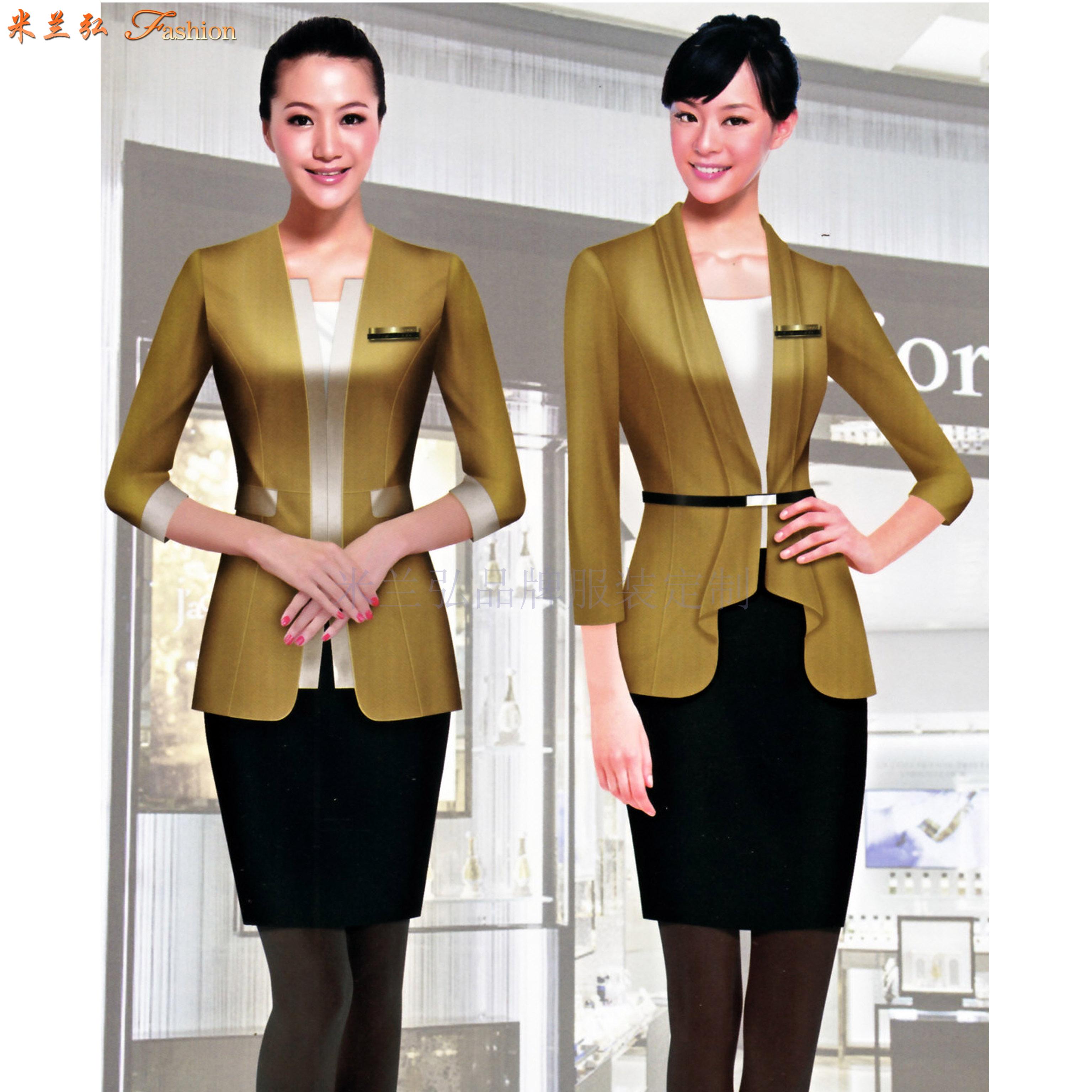 價格合理的職業裝定制-好看的女士職業裝圖片-米蘭弘服裝-5