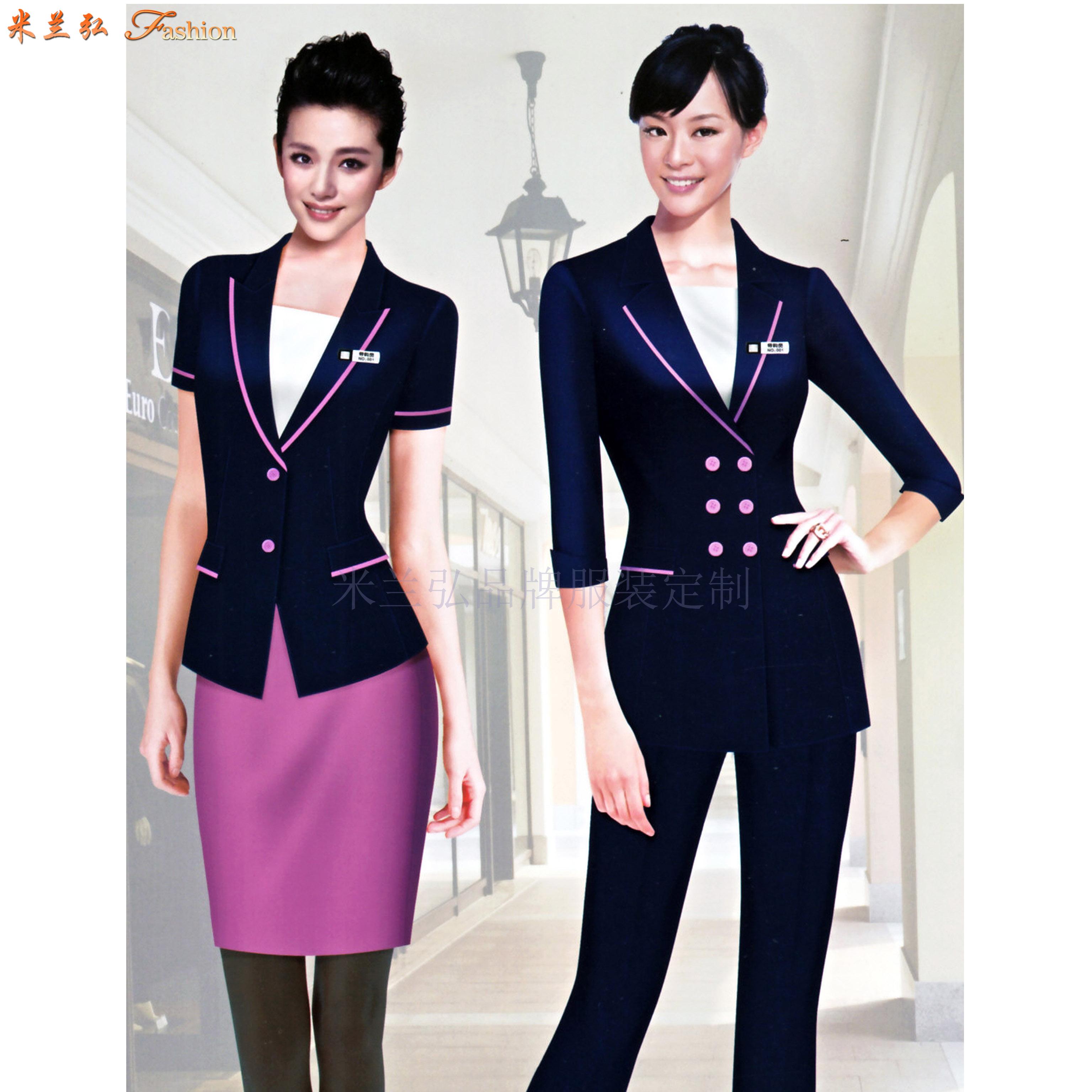 價格合理的職業裝定制-好看的女士職業裝圖片-米蘭弘服裝-1