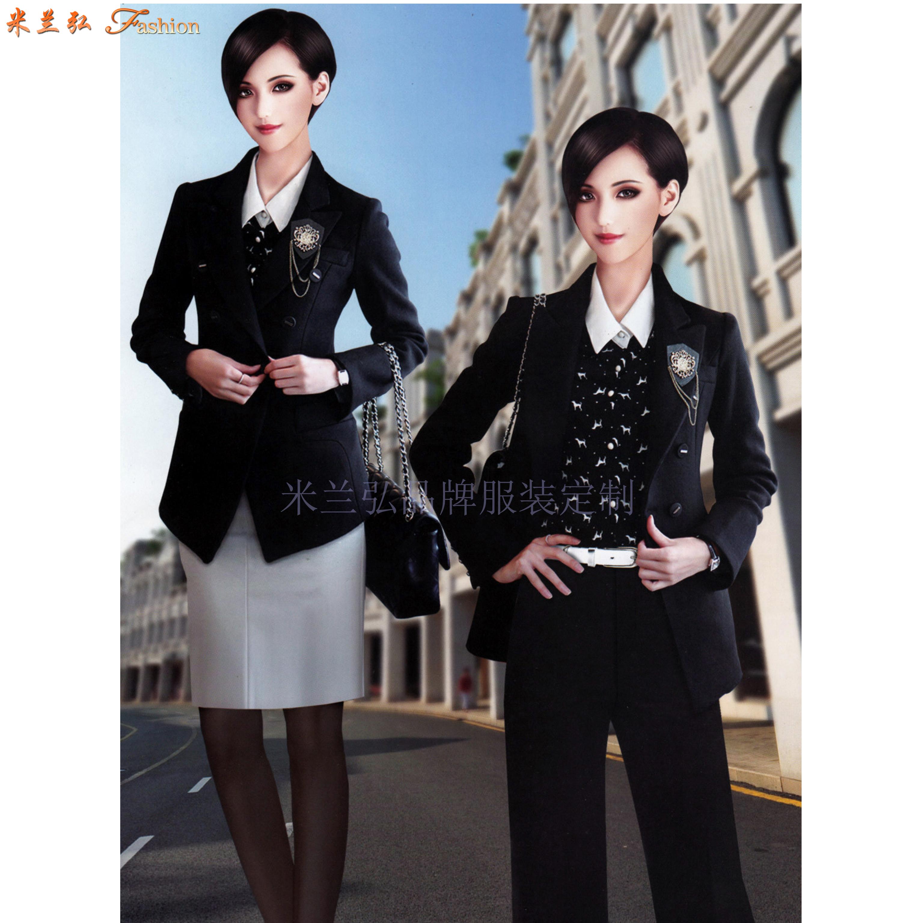 價格合理的職業裝定制-好看的女士職業裝圖片-米蘭弘服裝-3