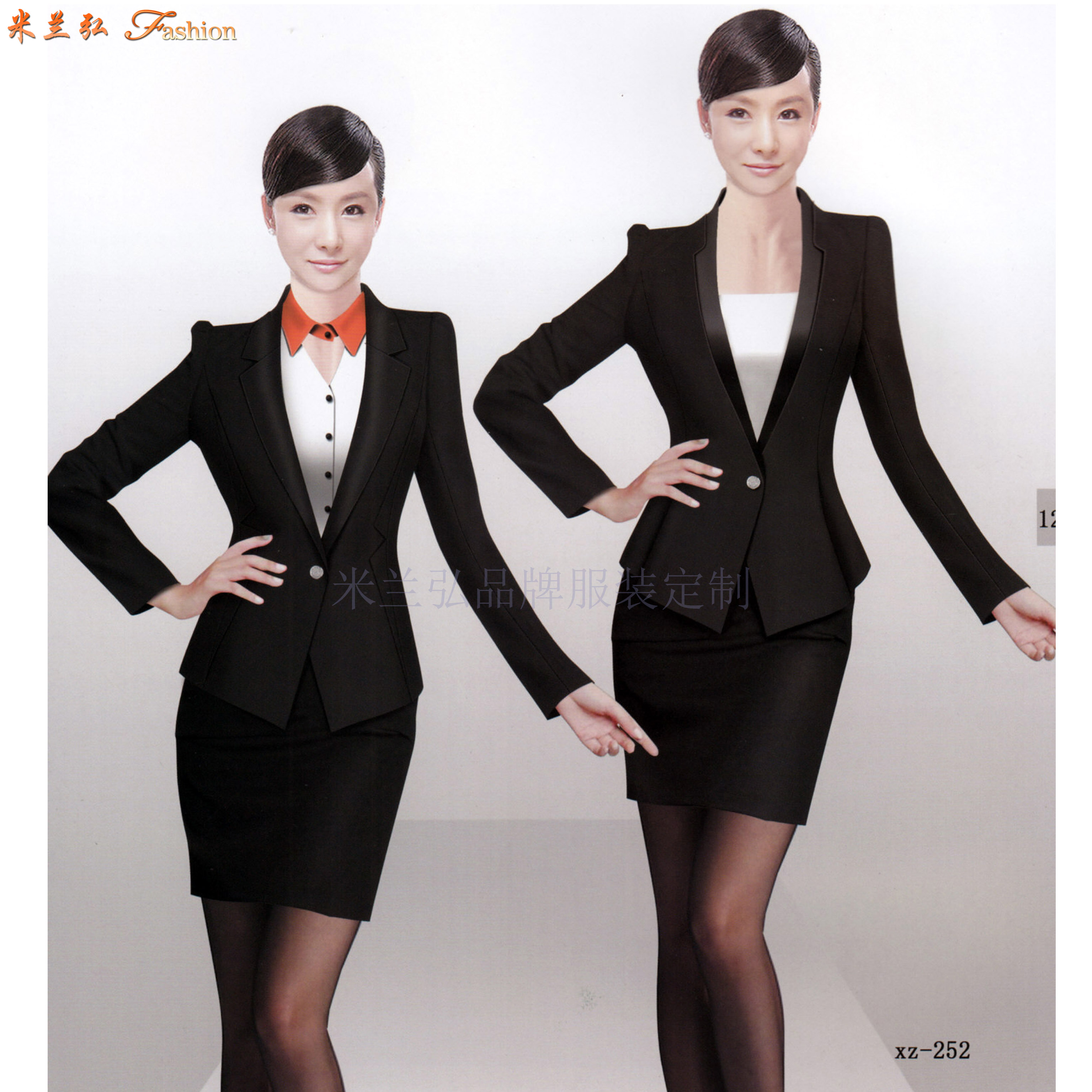 教師職業裝新款女裝圖片-院校員工職業裝-米蘭弘服裝-3