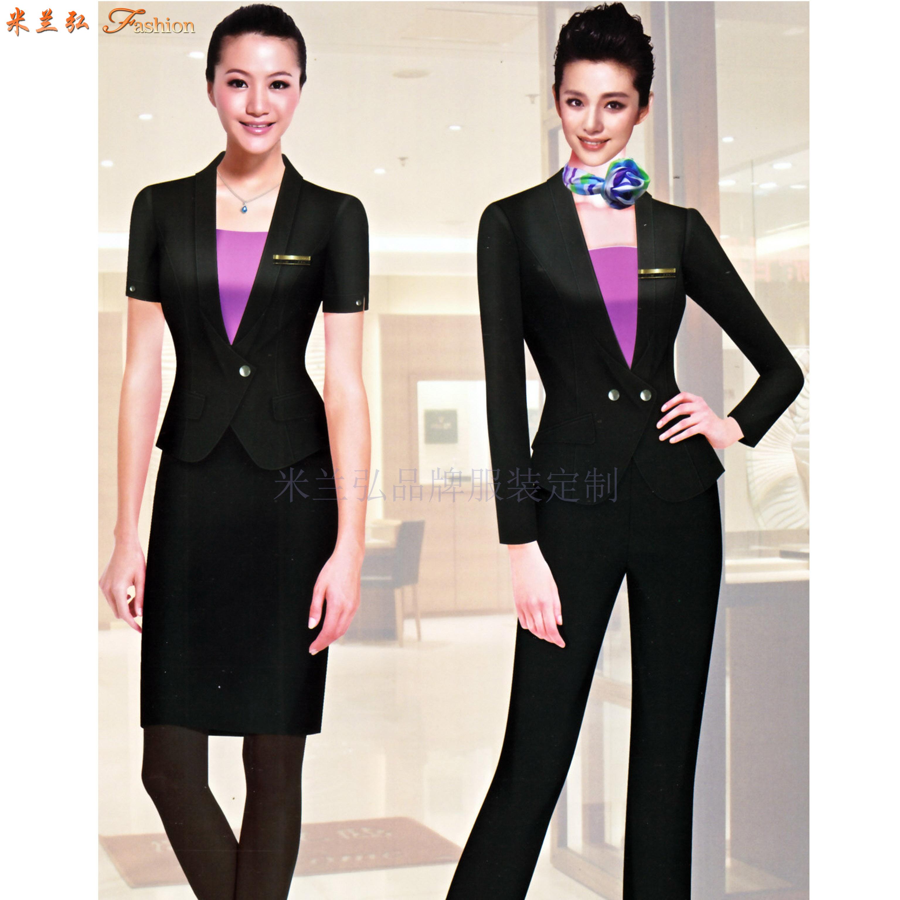 職業裝女裝西裝-白領職業裝女裝套裝-米蘭弘服裝-3