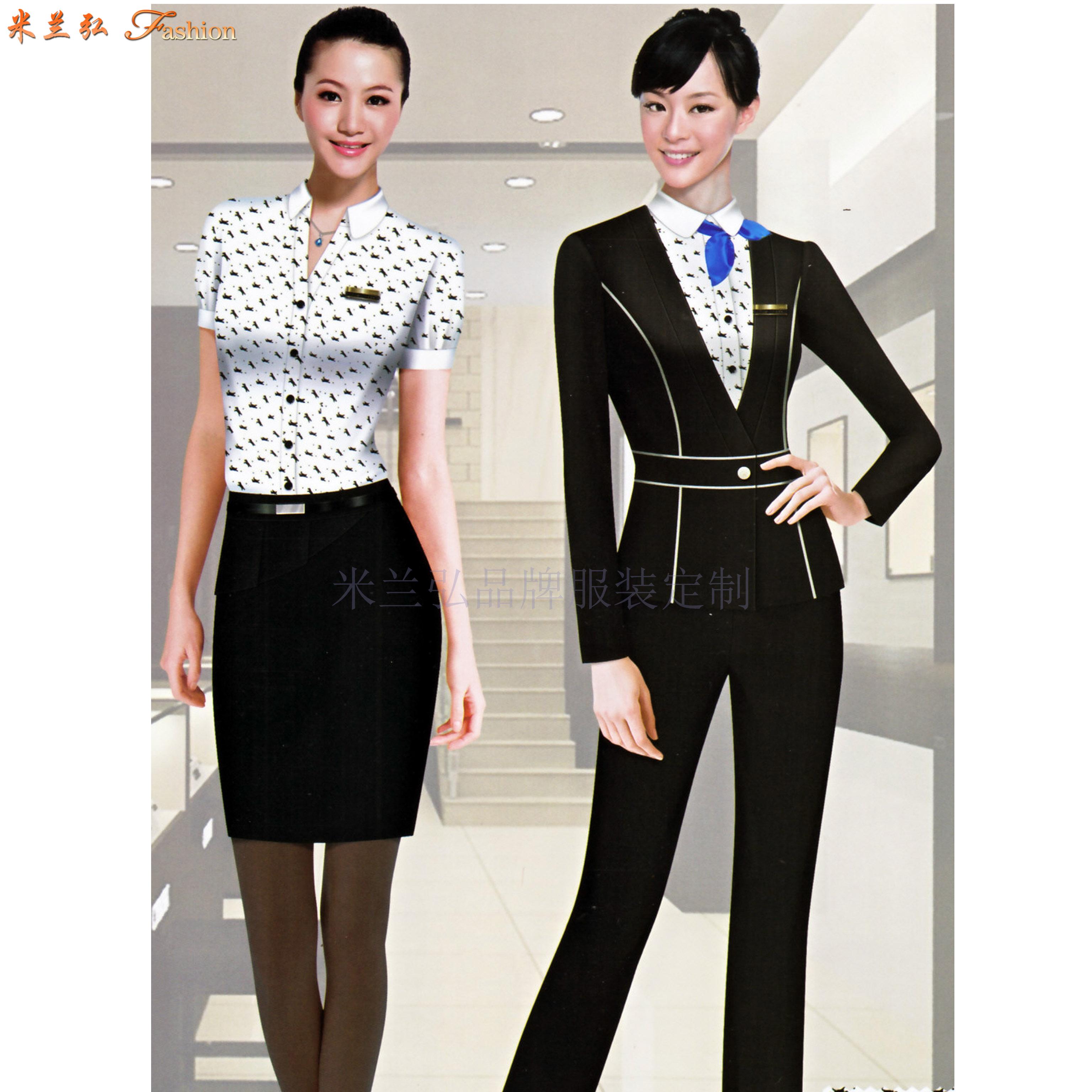 職業裝女裝西裝-白領職業裝女裝套裝-米蘭弘服裝-4