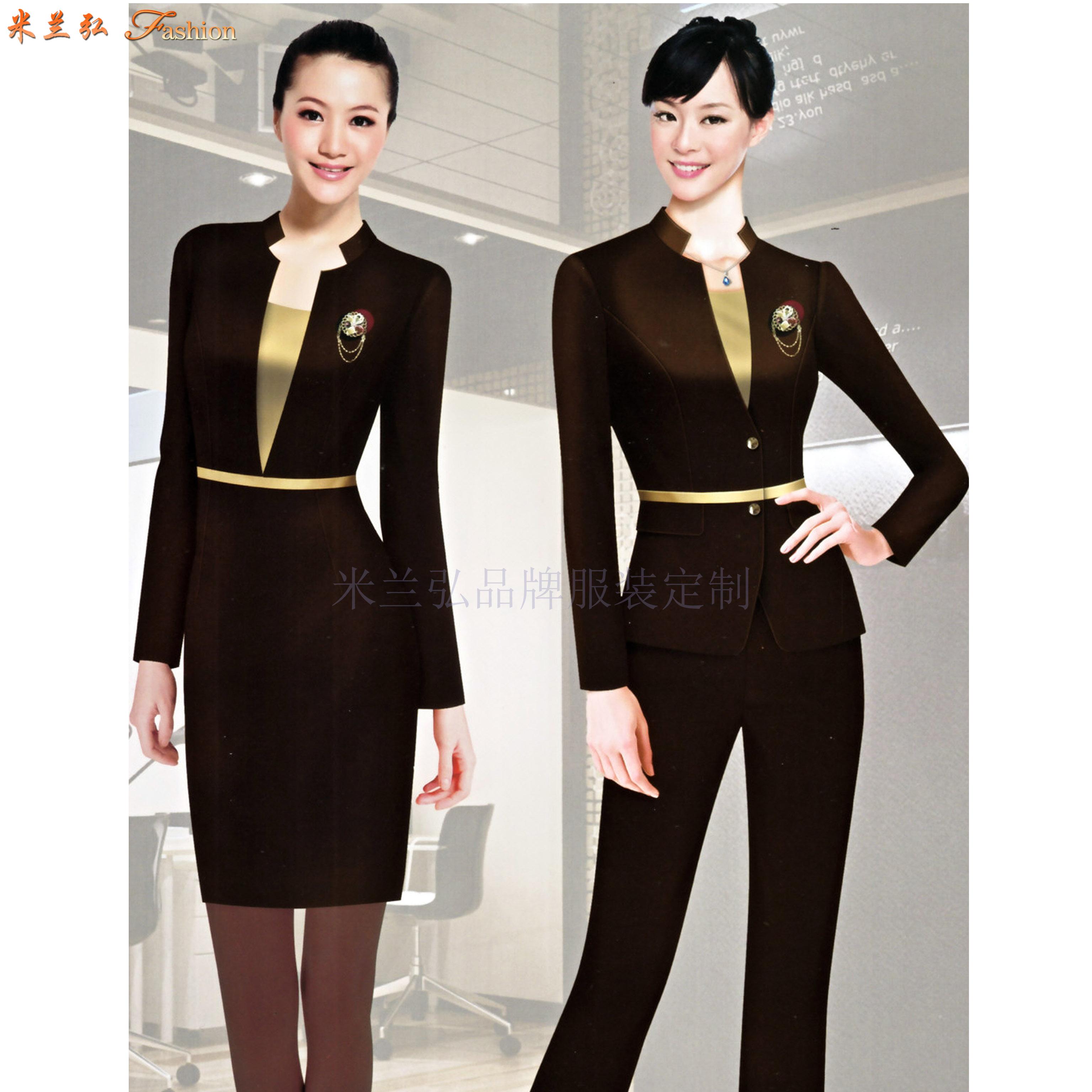 職業裝女裝西裝-白領職業裝女裝套裝-米蘭弘服裝-5
