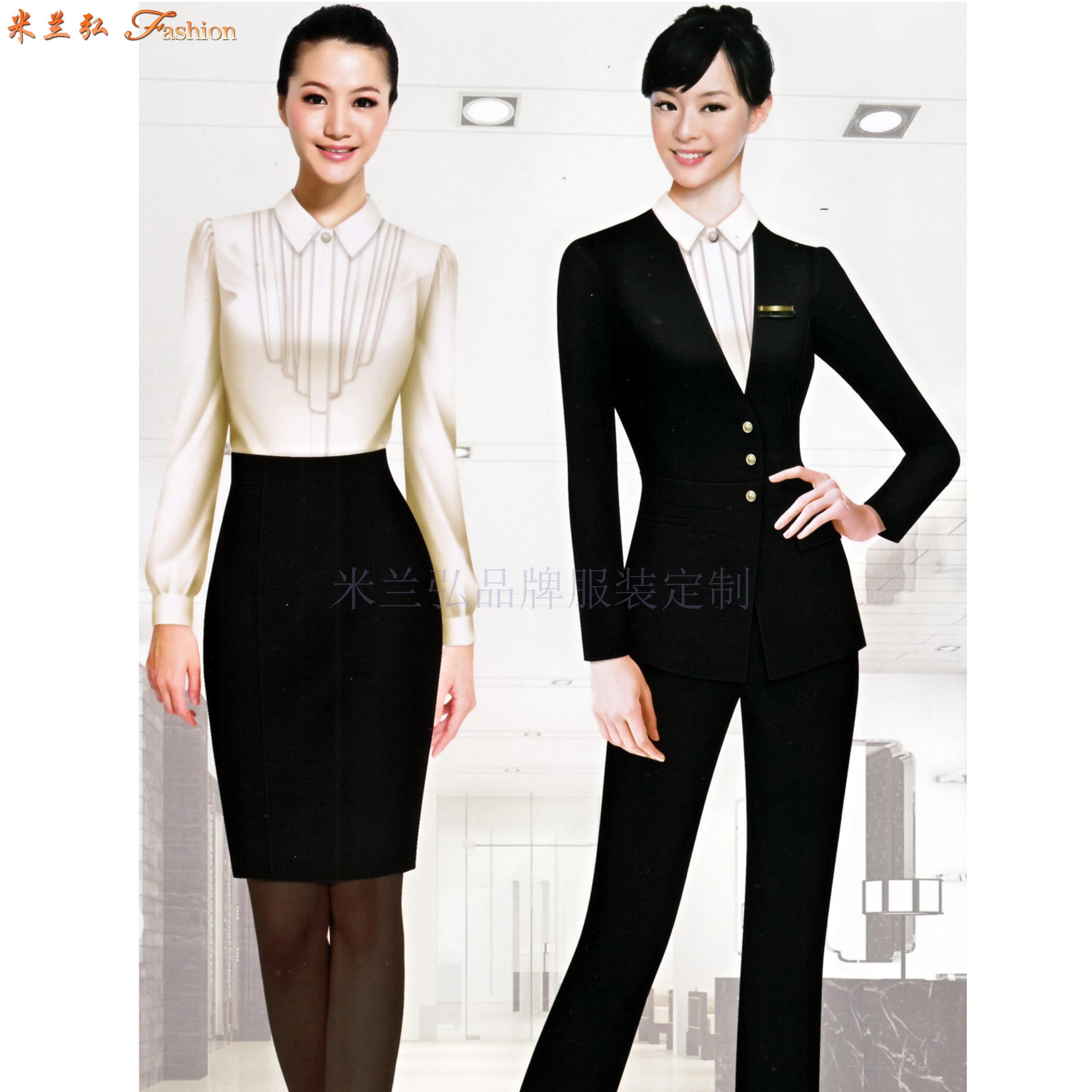 職業裝女裝西裝-白領職業裝女裝套裝-米蘭弘服裝-1