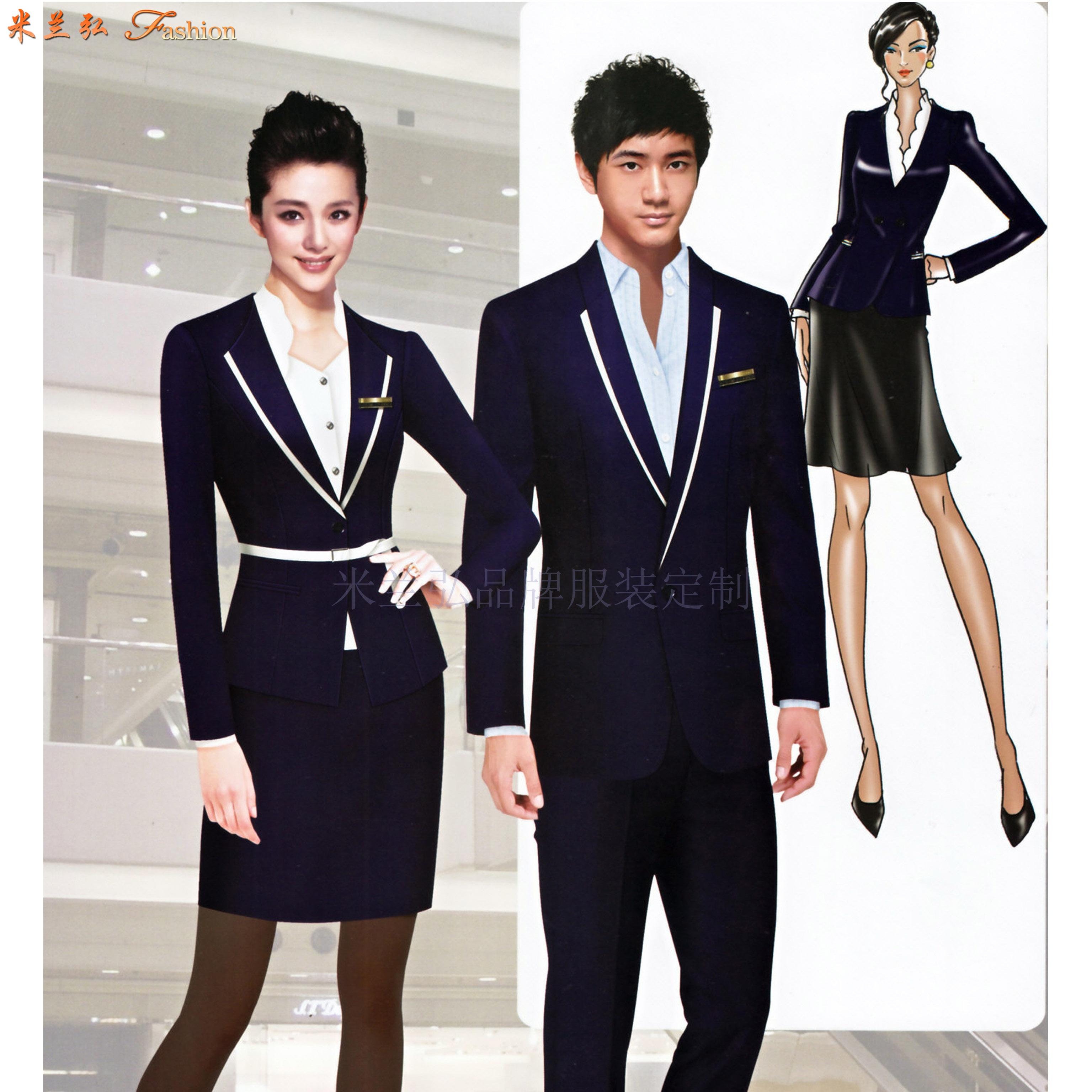 四川職業裝定做-職業正裝訂做廠家-米蘭弘服裝-2