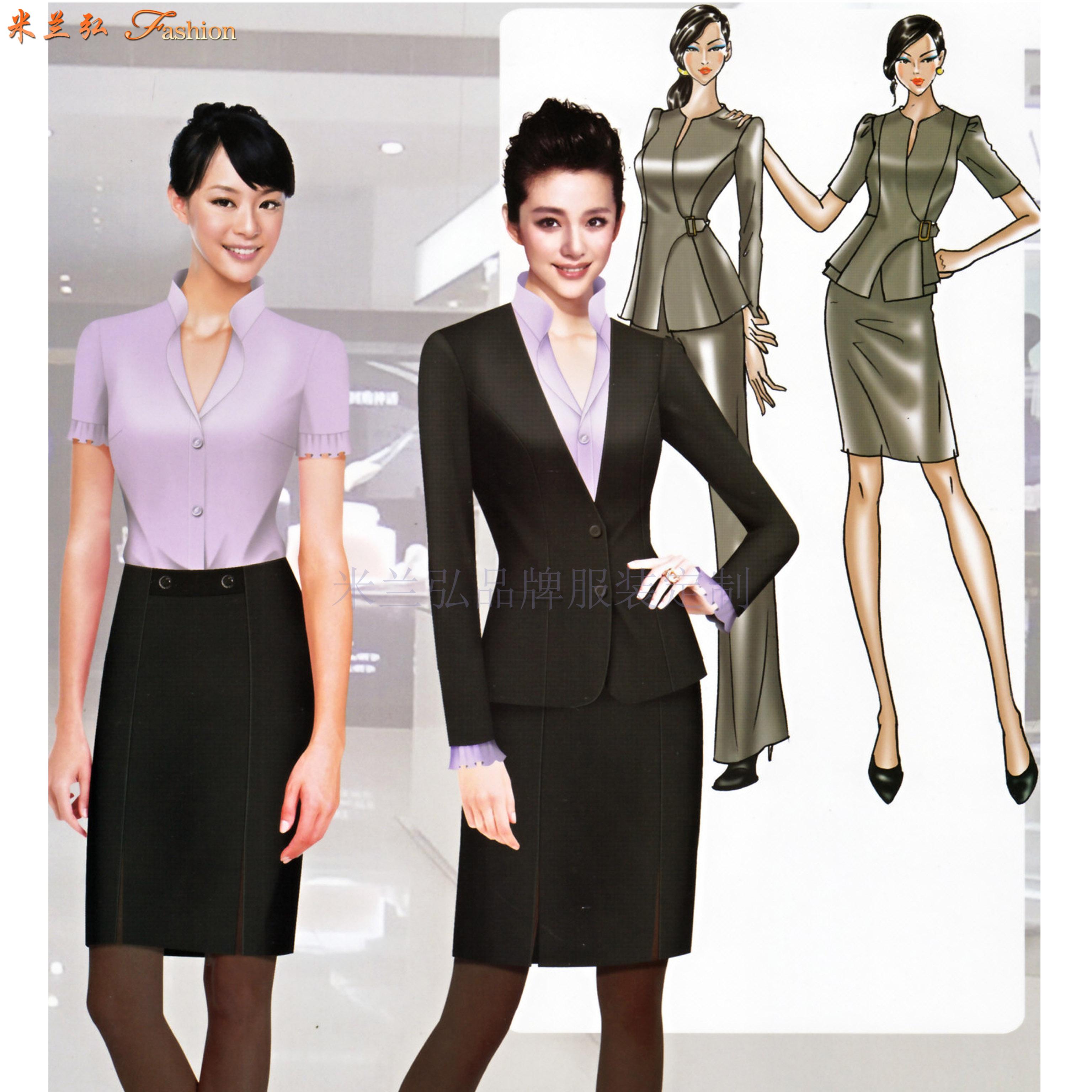 四川職業裝定做-職業正裝訂做廠家-米蘭弘服裝-1