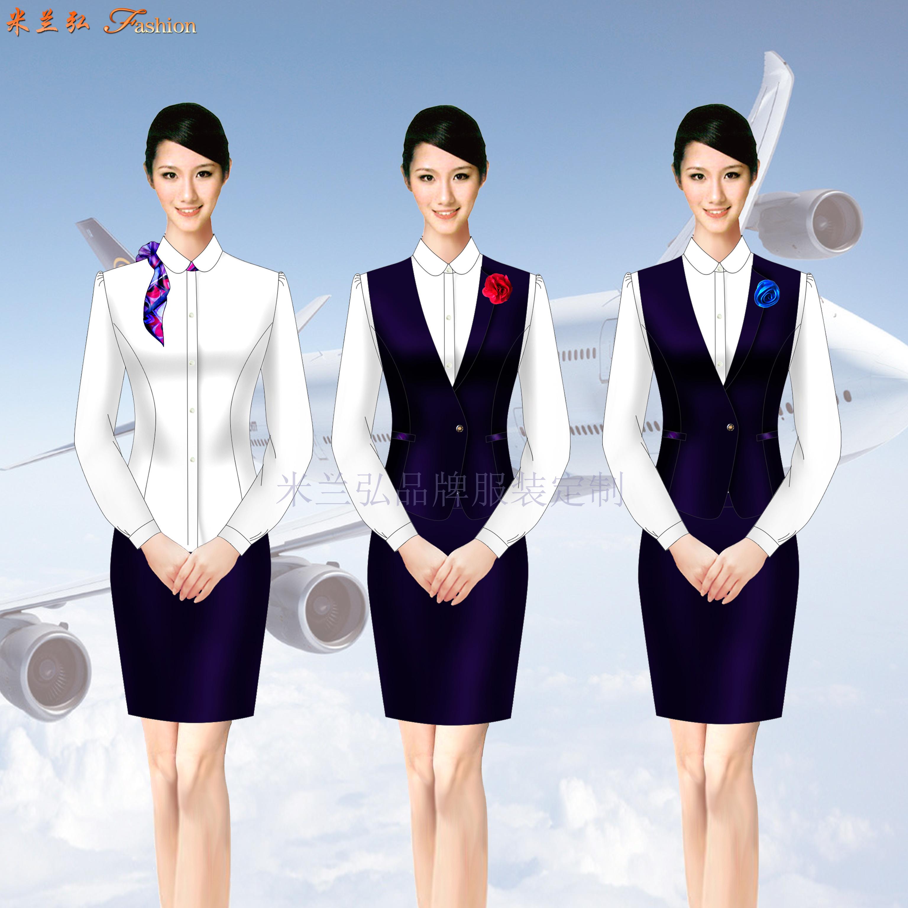 四川空姐服定制-四川空姐服定做價格-米蘭弘服裝-3