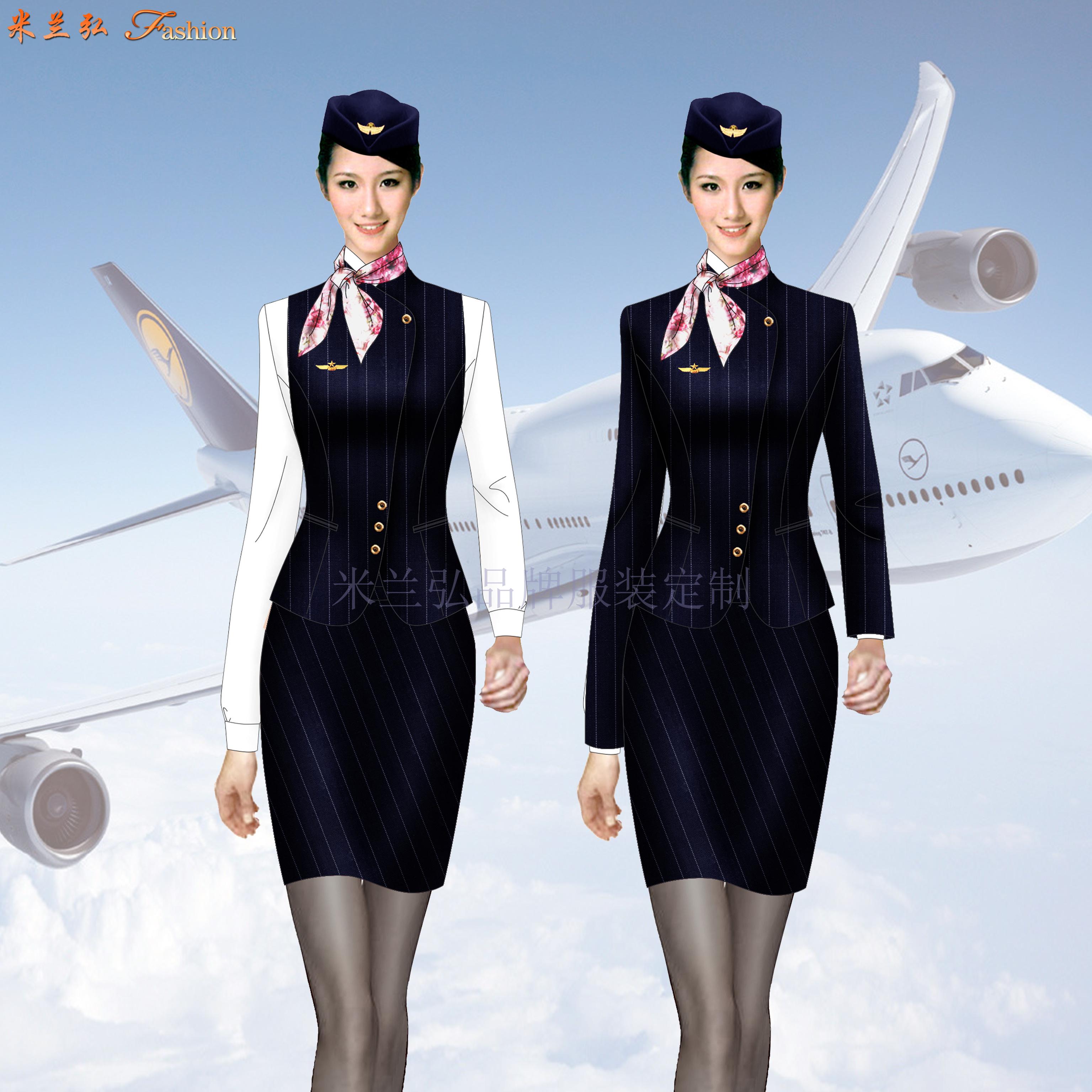 江西空姐服定制-空乘人員服裝圖片-米蘭弘服裝-2