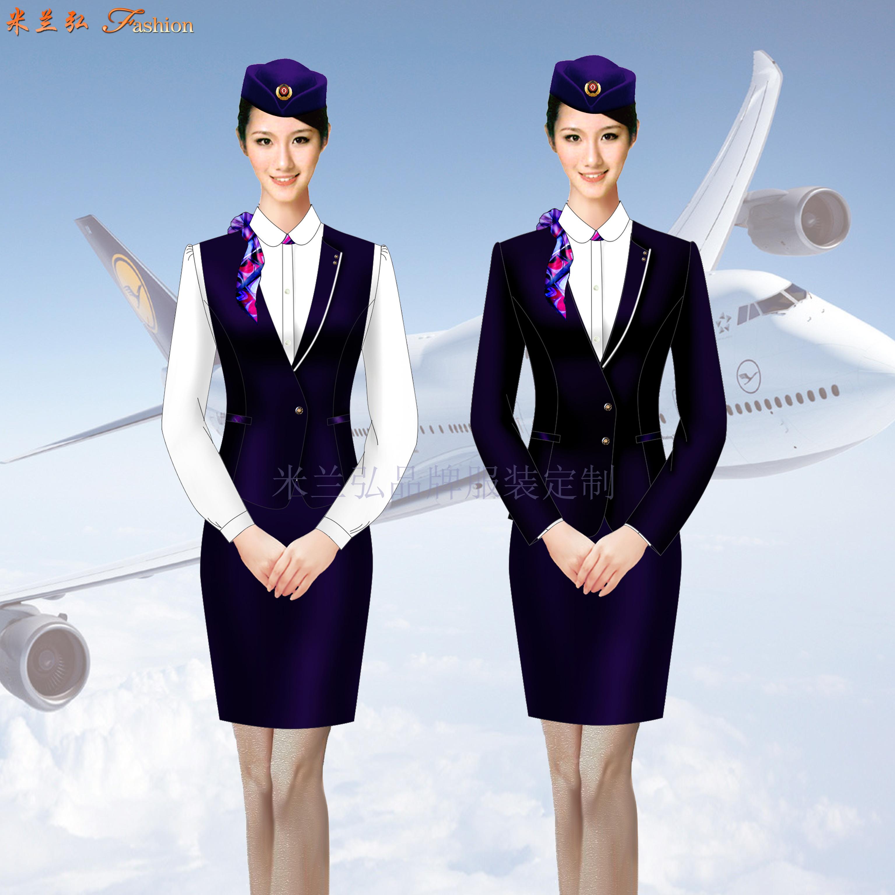 江西空姐服定制-空乘人員服裝圖片-米蘭弘服裝-3
