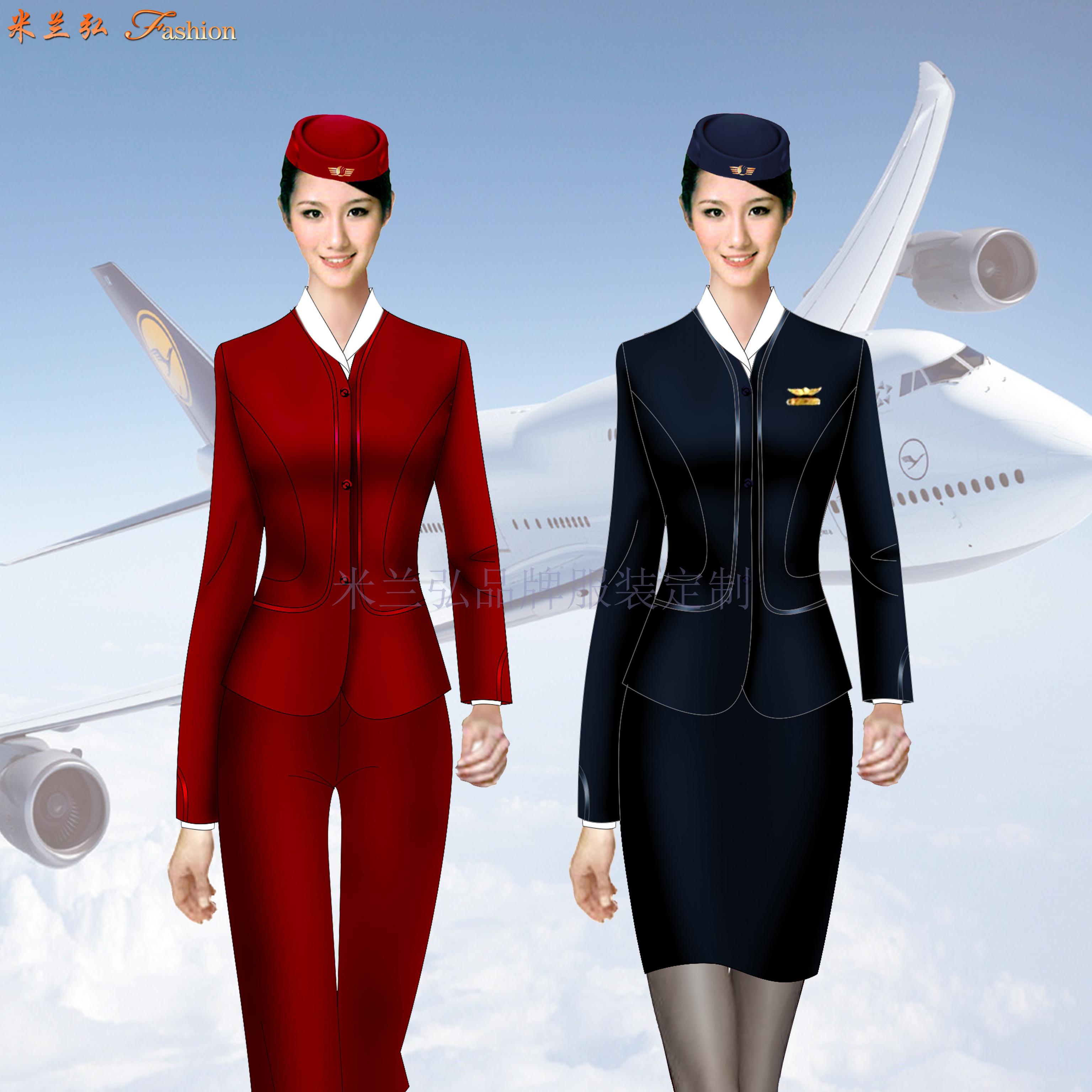 江西空姐服定制-空乘人員服裝圖片-米蘭弘服裝-4