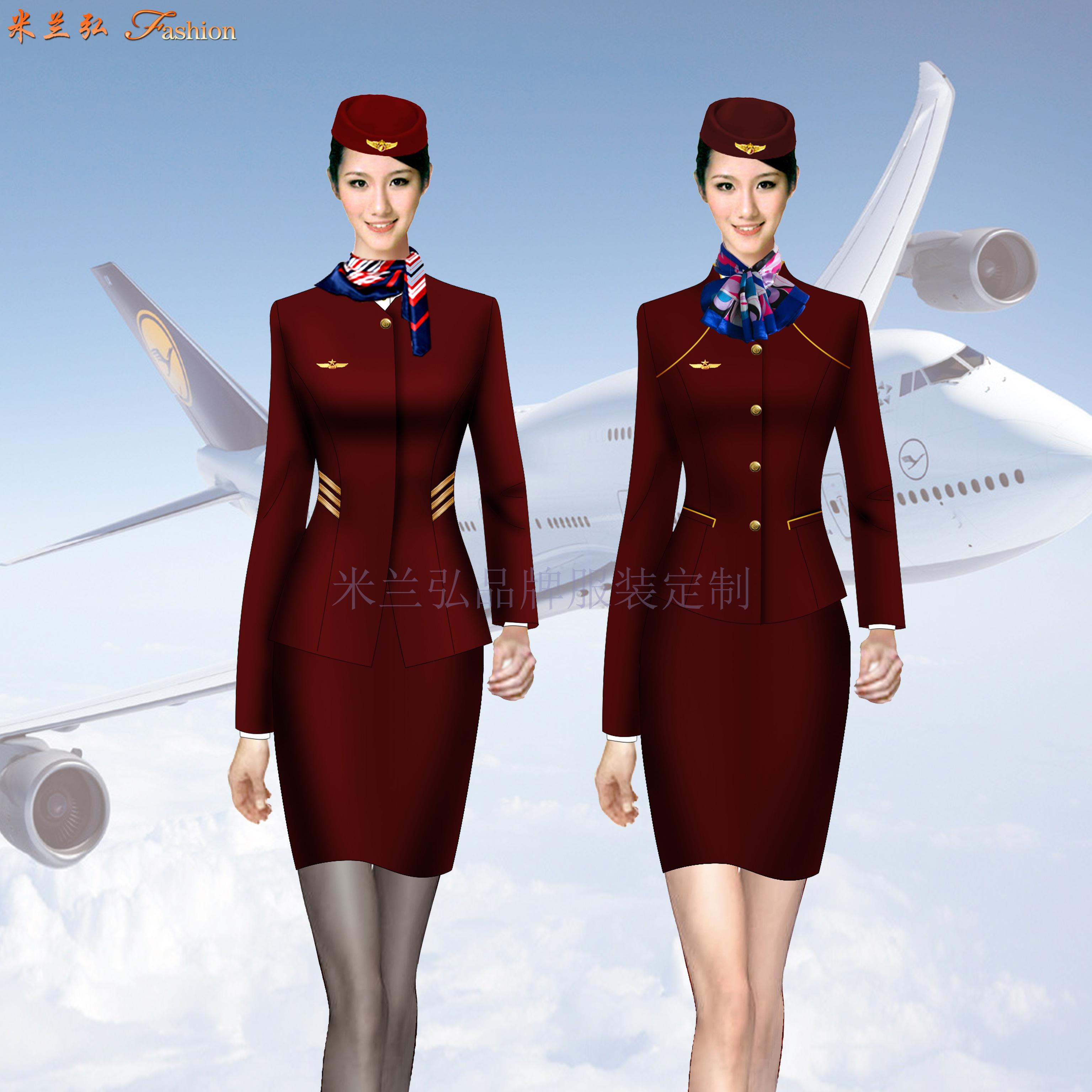 江西空姐服定制-空乘人員服裝圖片-米蘭弘服裝-5