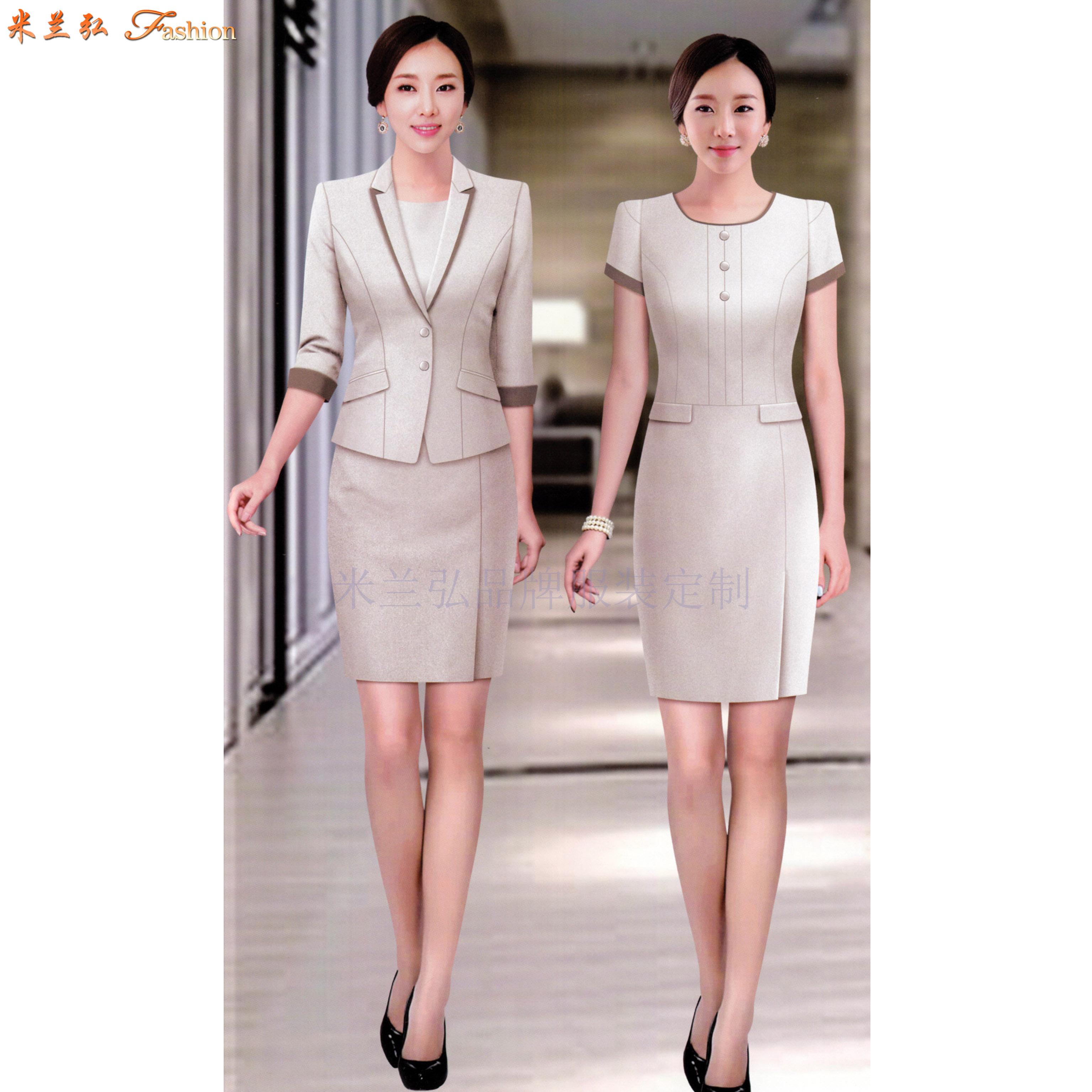 江西連衣裙定制-職業連衣裙訂做價錢-米蘭弘服裝-5