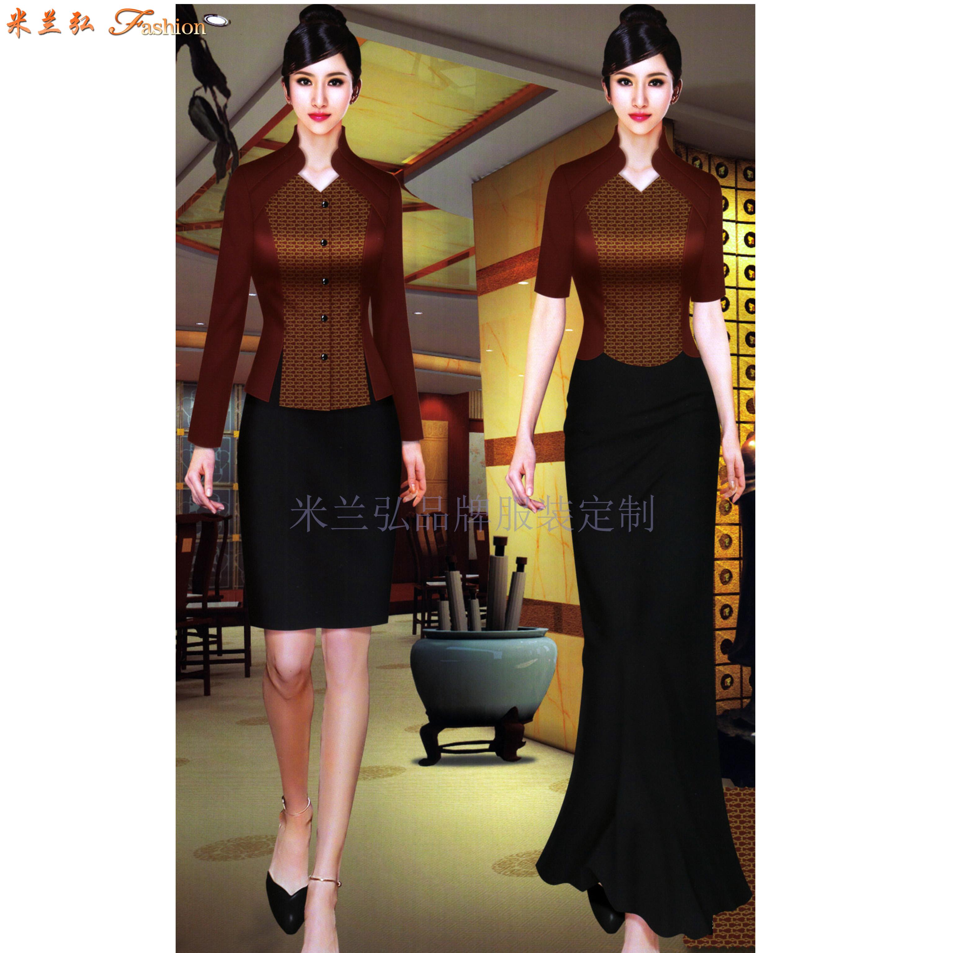 江西酒店服裝定做-餐飲工作服訂制價格-米蘭弘服裝-2
